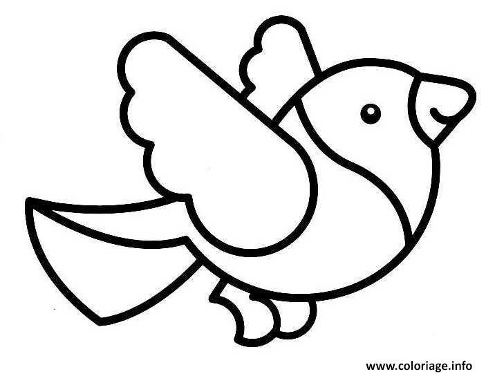 Coloriage Simple Oiseau Maternelle Dessin Oiseau A Imprimer