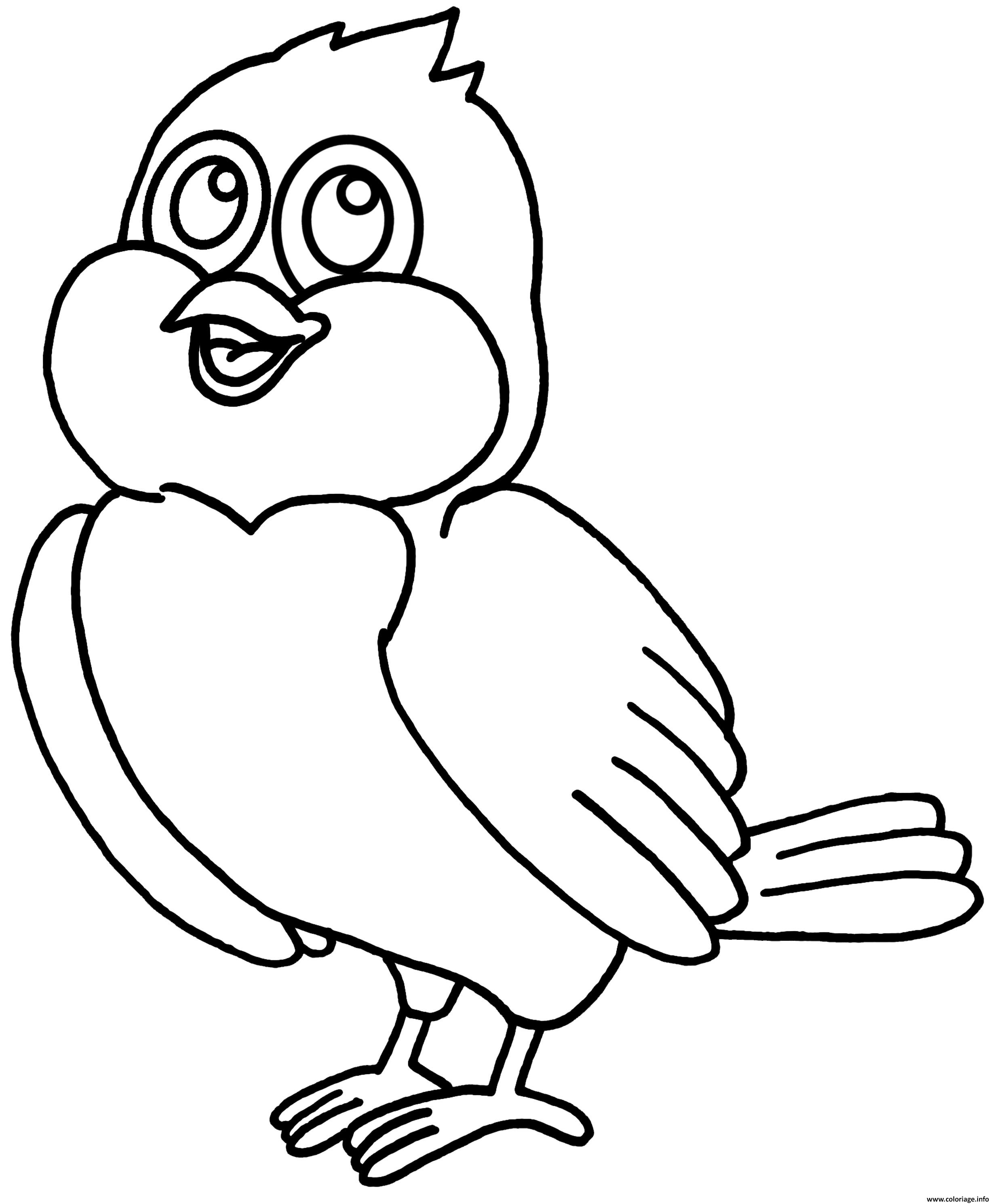 Dessin petit oiseau maternelle Coloriage Gratuit à Imprimer