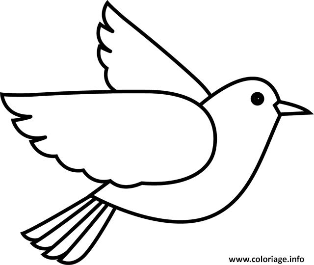 Coloriage Oiseau Maternelle Simple Et Facile Dessin Oiseau A Imprimer
