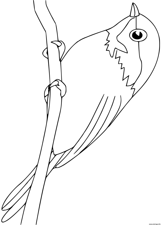 Dessin chickadee oiseau Coloriage Gratuit à Imprimer