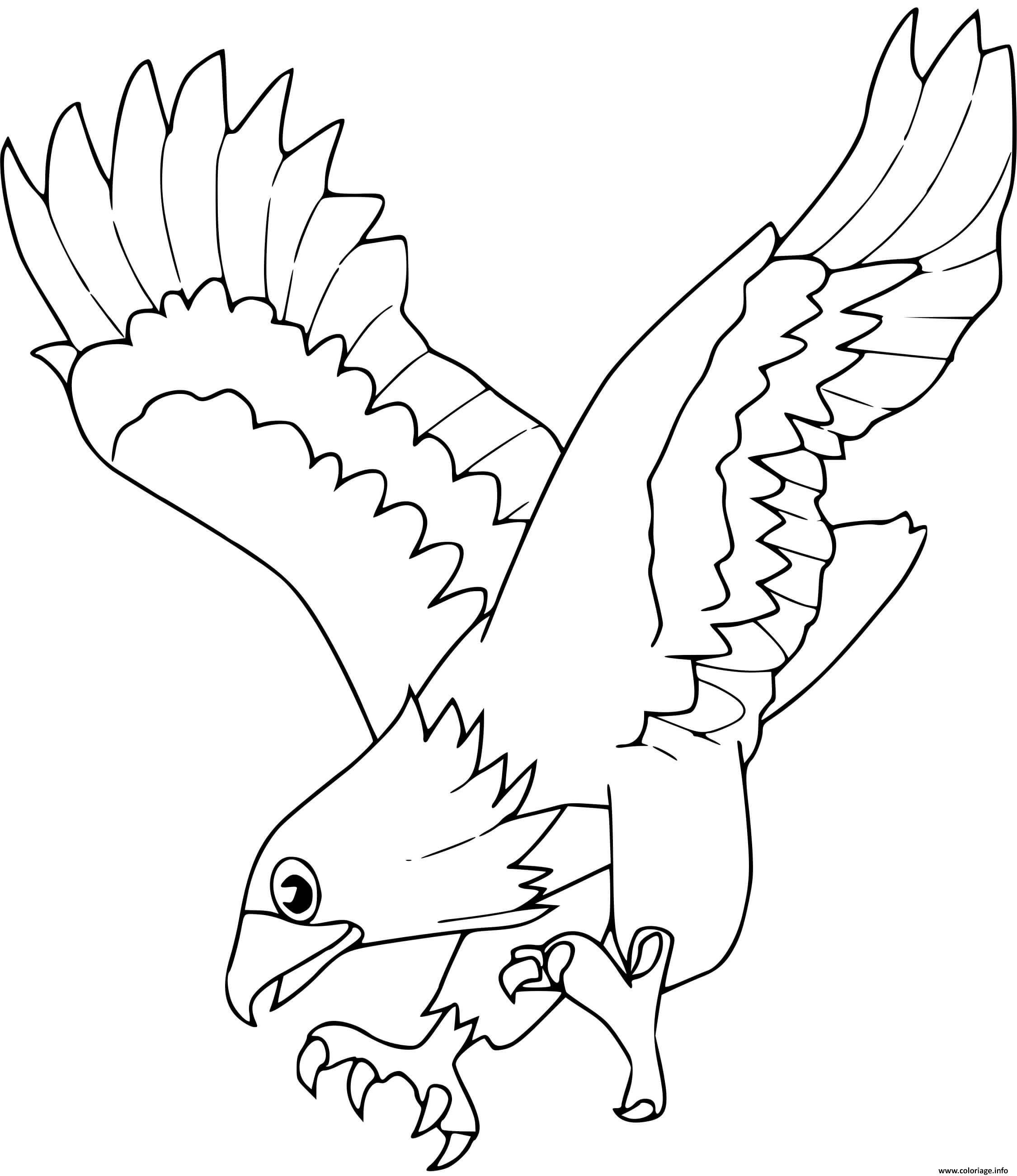 Dessin aigle Coloriage Gratuit à Imprimer