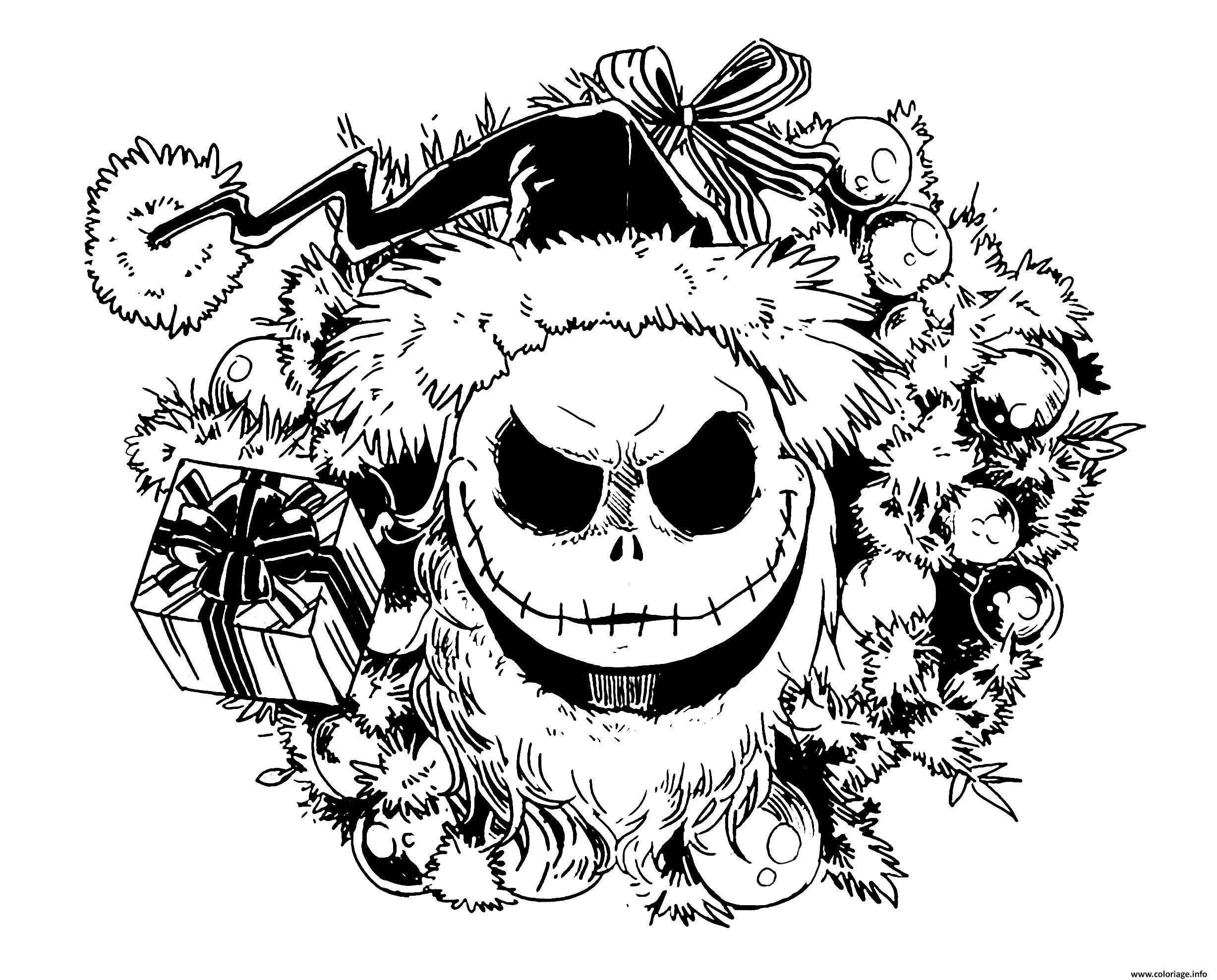 Coloriage Etrange Noel De Mr Jack dessin