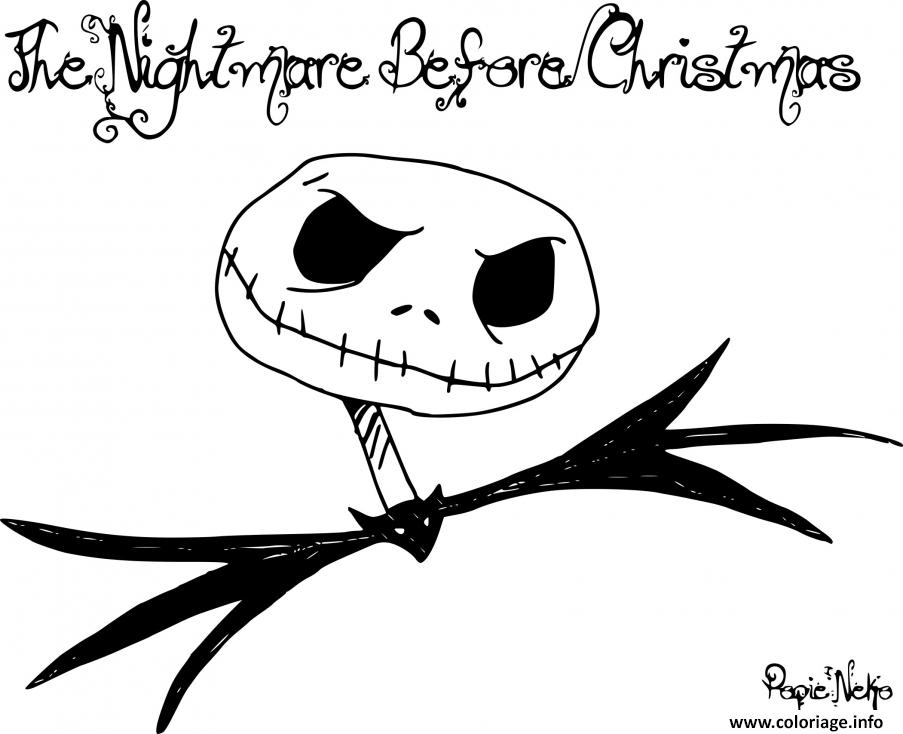 Coloriage The Nightmare Before Christmas Monsieur Jack Dessin à Imprimer