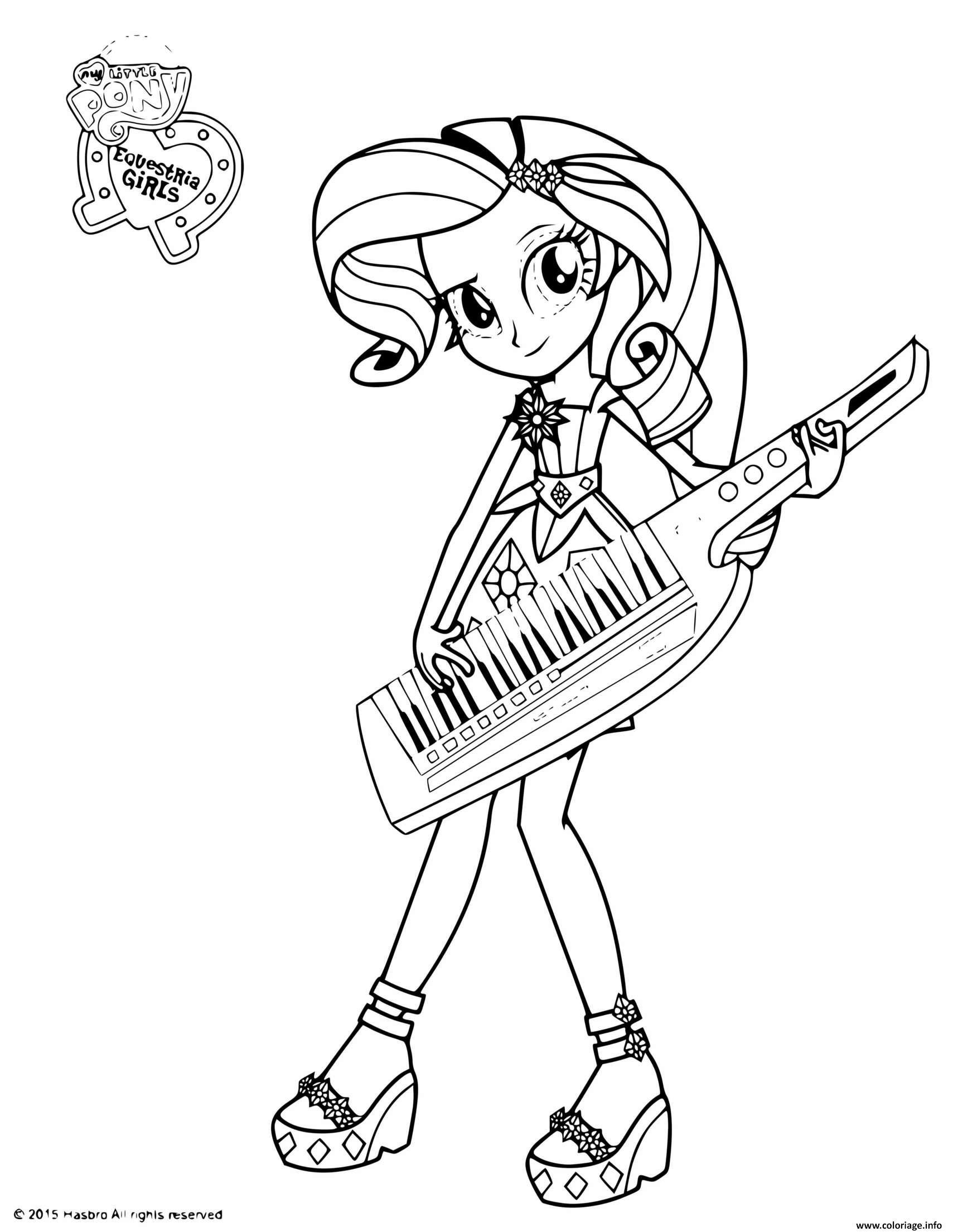Dessin My Little Pony Equestria Coloriage Gratuit à Imprimer