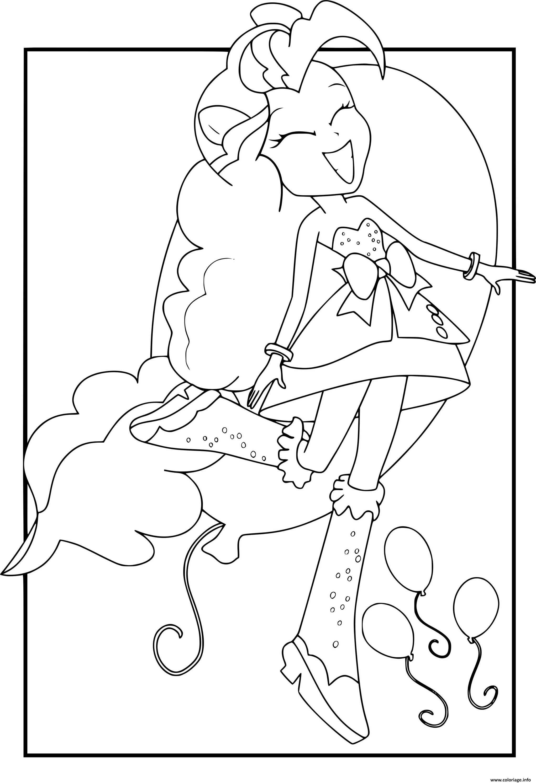 Dessin My Little Pony Girls Pinkie Pie Coloriage Gratuit à Imprimer