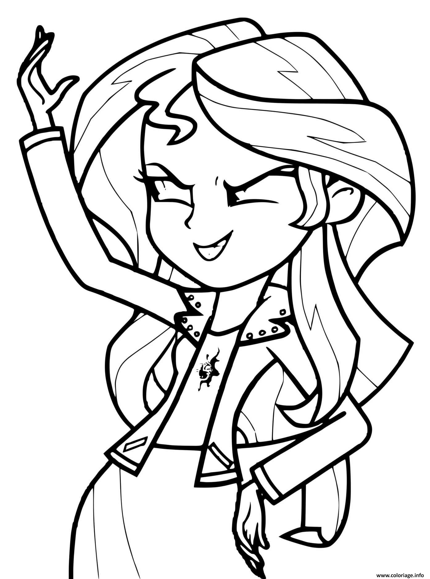 Dessin Sunset Shimmer My Little Pony Girl Coloriage Gratuit à Imprimer