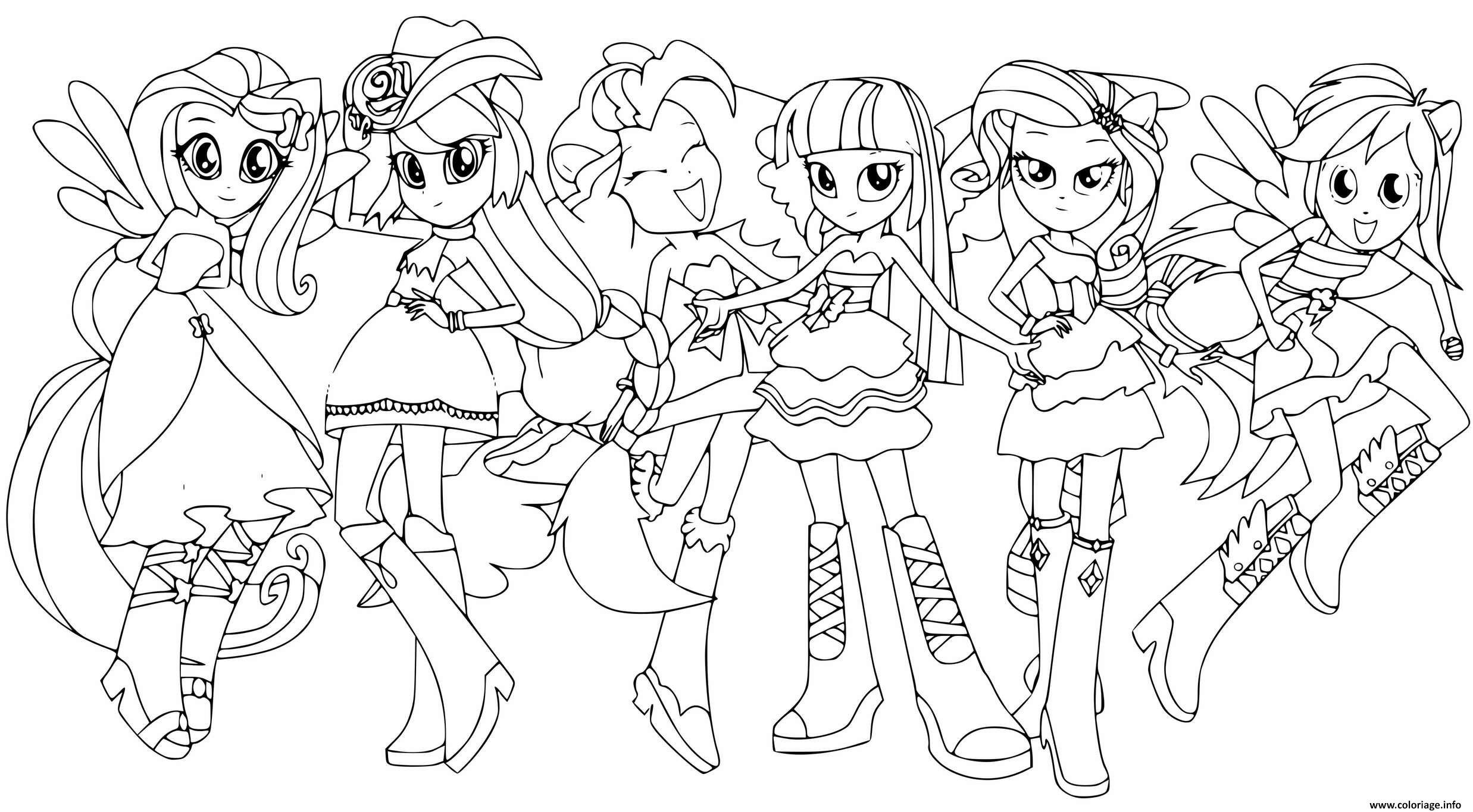 Dessin Equestria Girls fashion dolls Coloriage Gratuit à Imprimer
