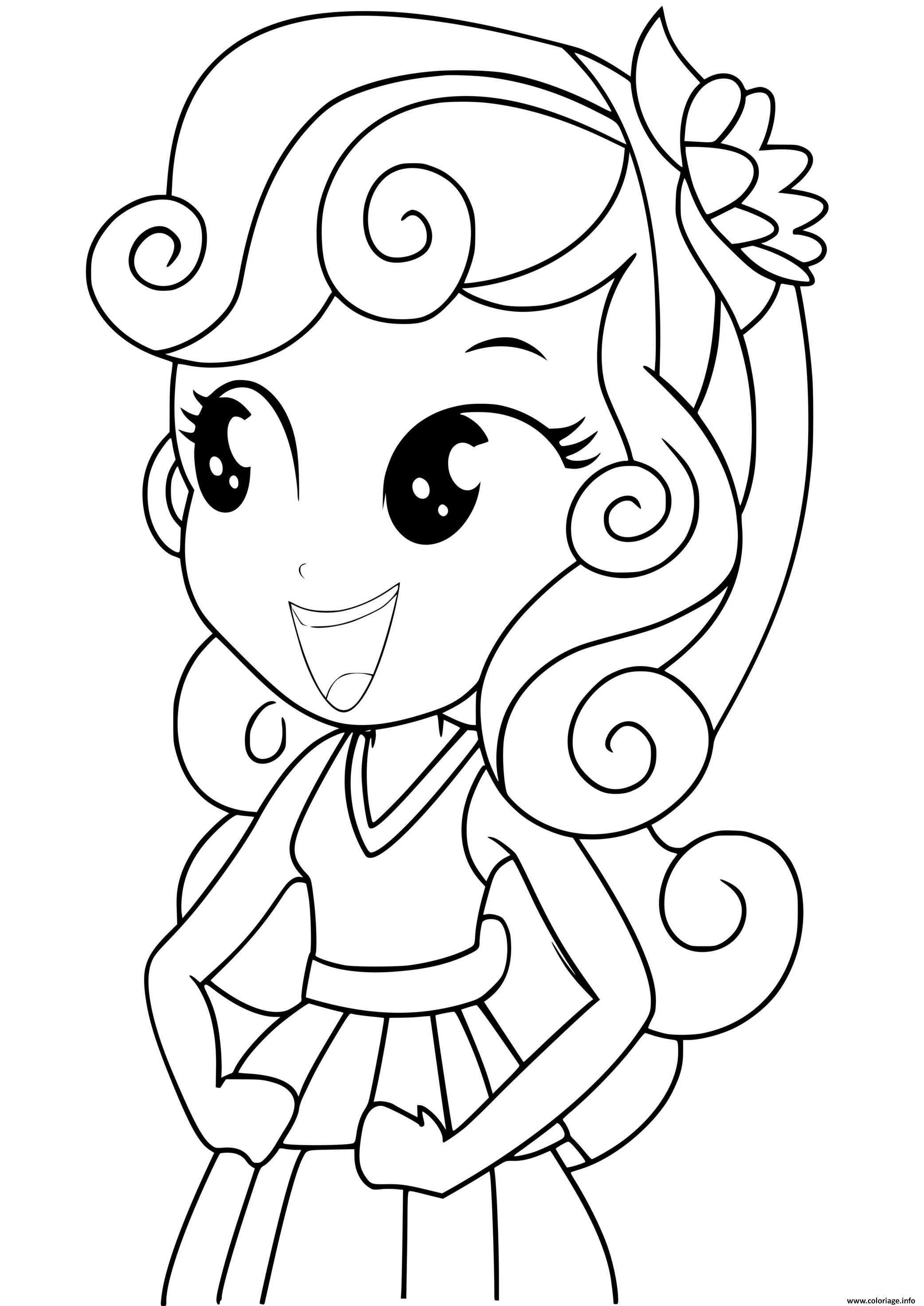 Dessin sweetie belle equestria girls Coloriage Gratuit à Imprimer