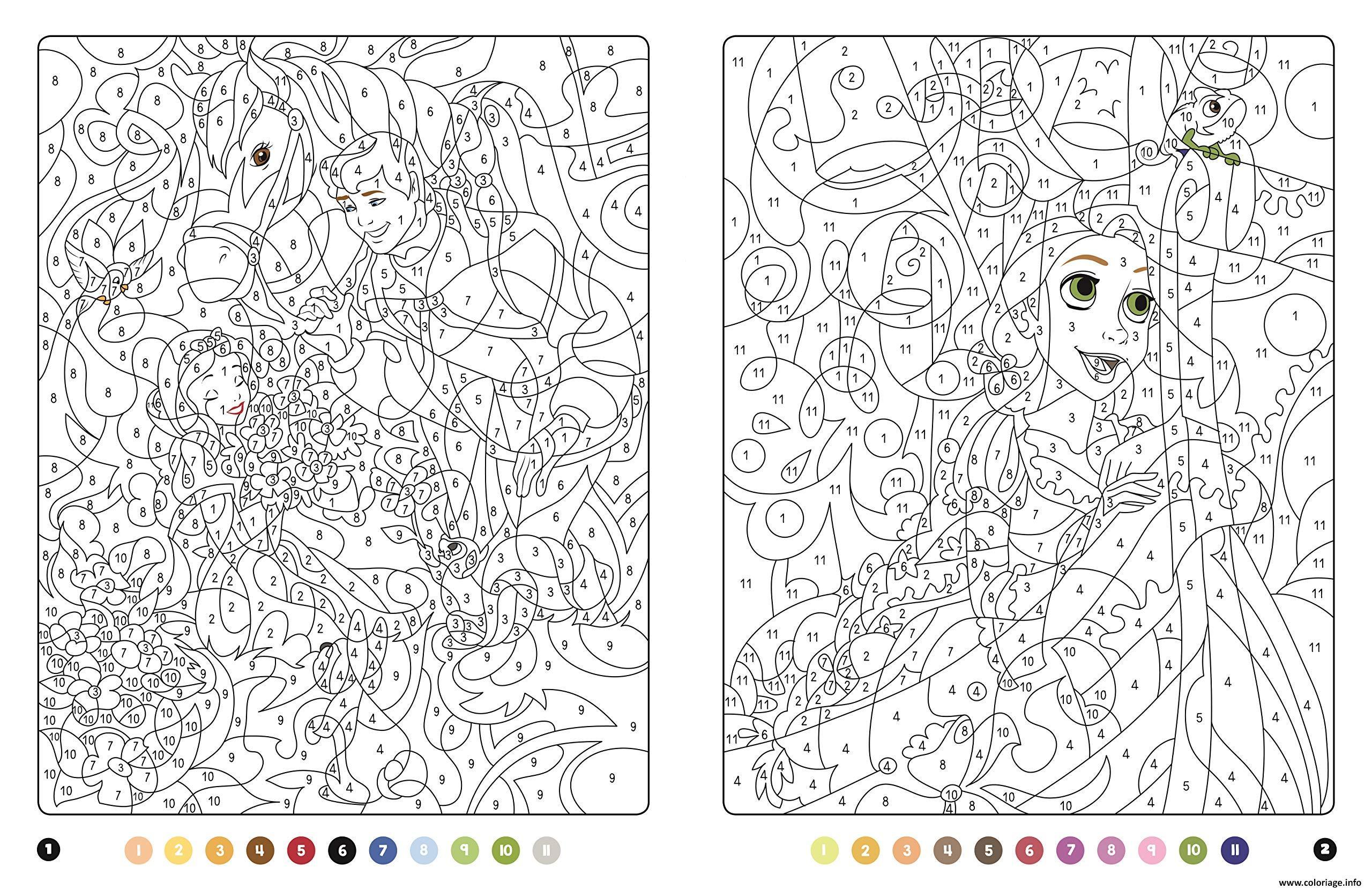 Coloriage Princesse Magique Disney Blanche Neige Et Raiponce Jecolorie Com
