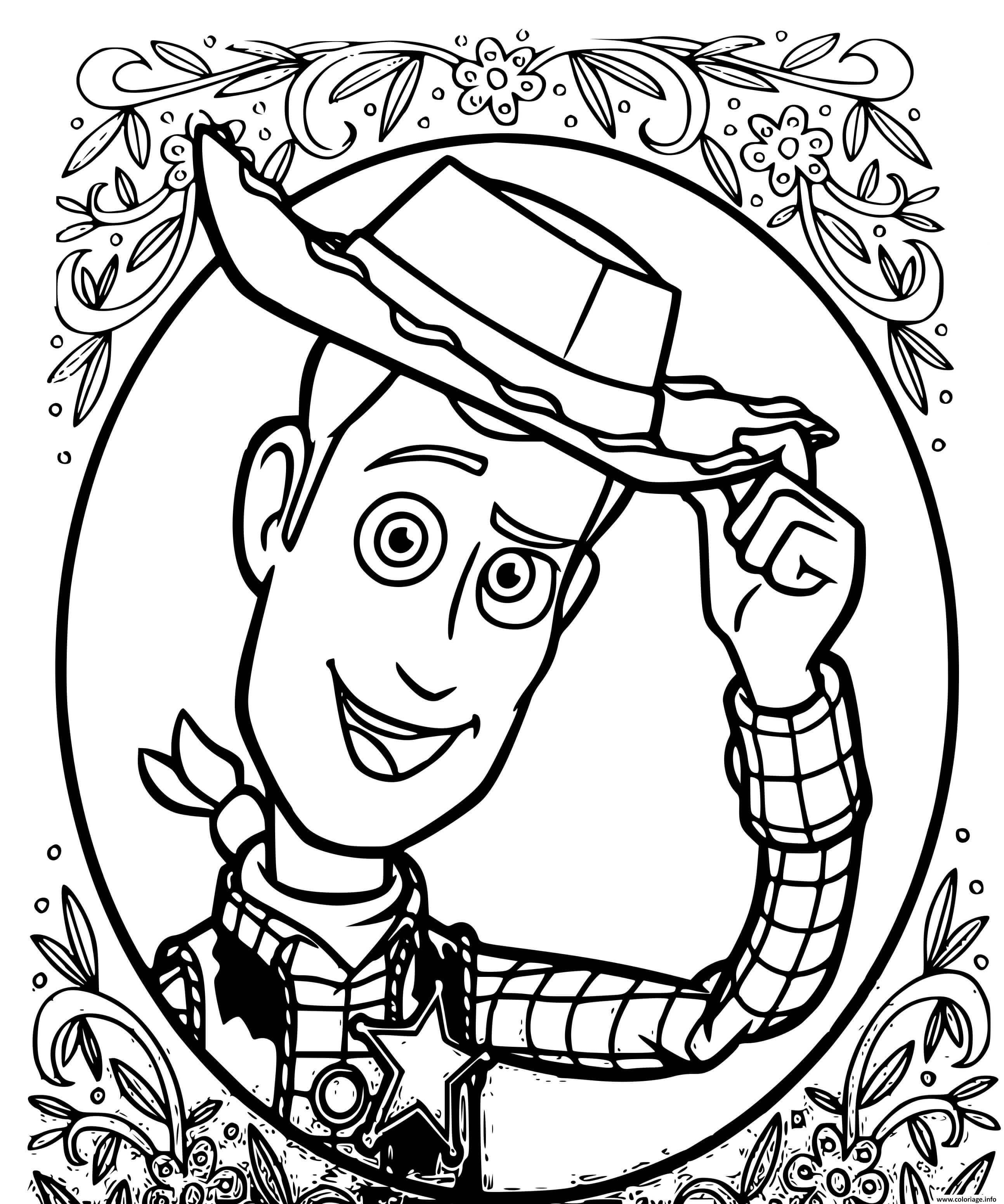 Dessin sherif woody histoire de jouets 4 Coloriage Gratuit à Imprimer