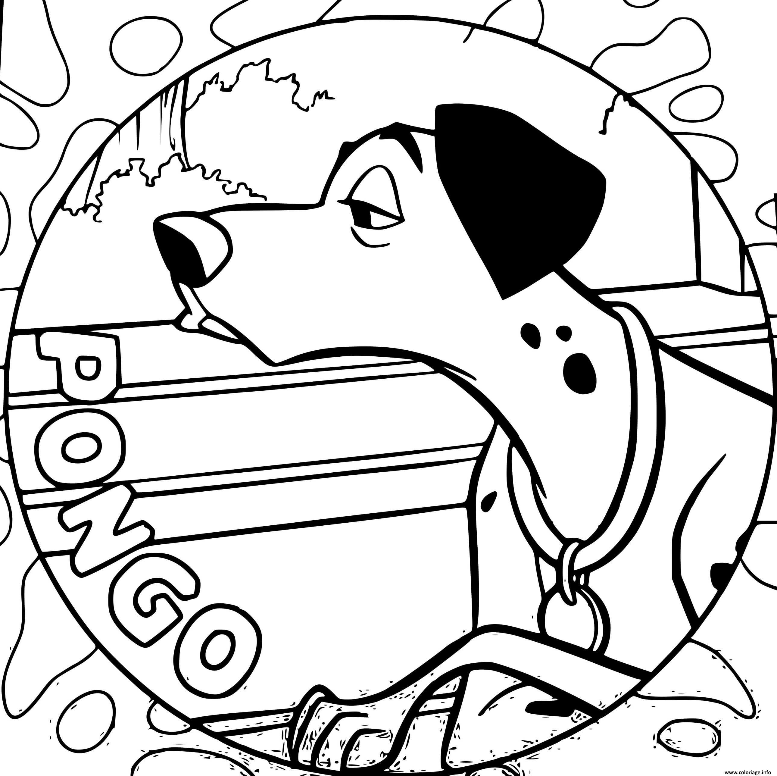 Dessin pongo dalmatien chien Coloriage Gratuit à Imprimer