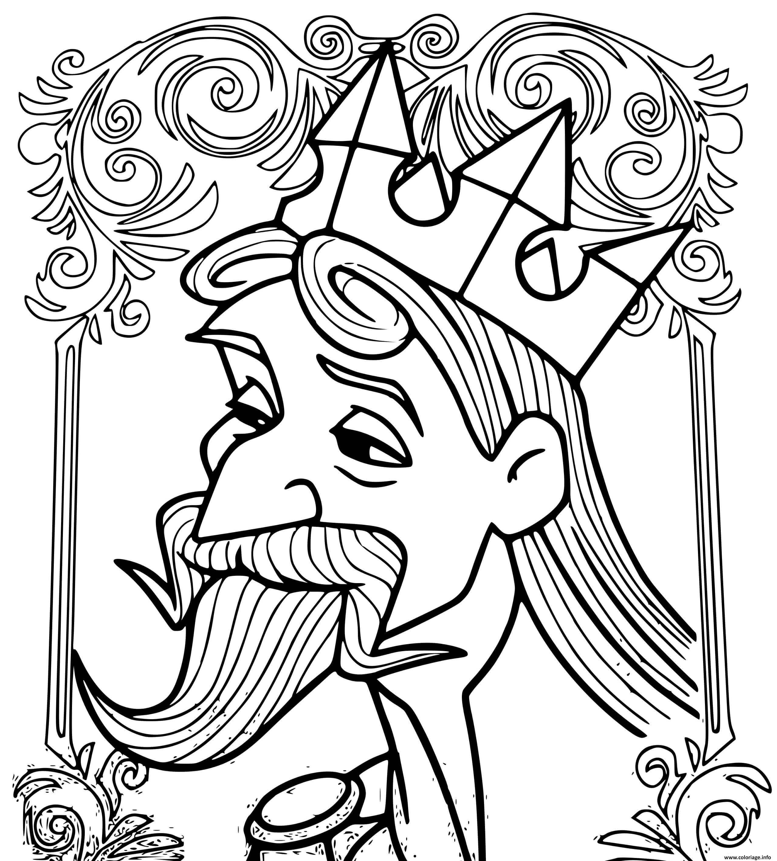 Dessin roi stephane pere de la princesse aurora Coloriage Gratuit à Imprimer