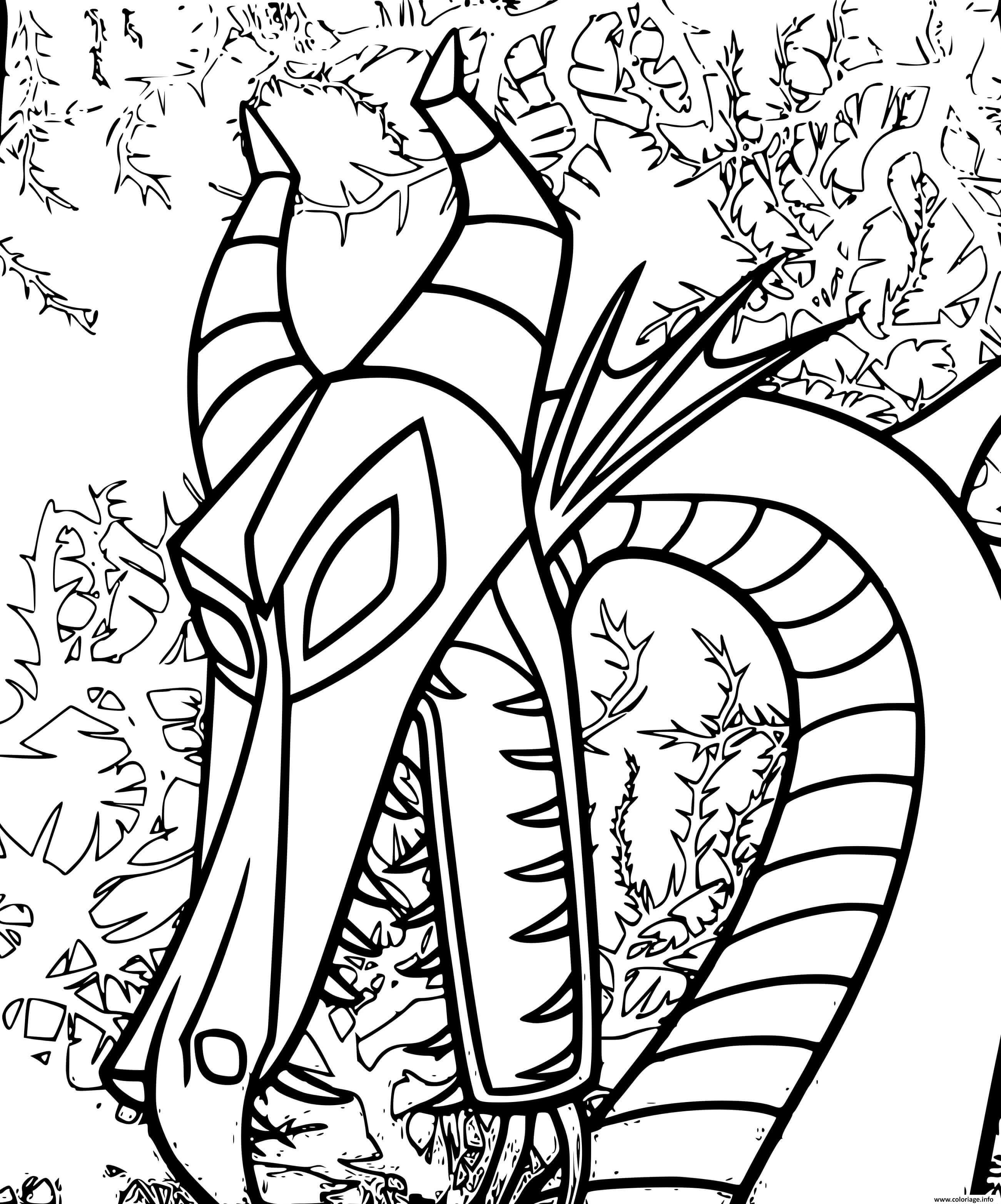 Dessin dragon malefique la belle au bois dormant Coloriage Gratuit à Imprimer