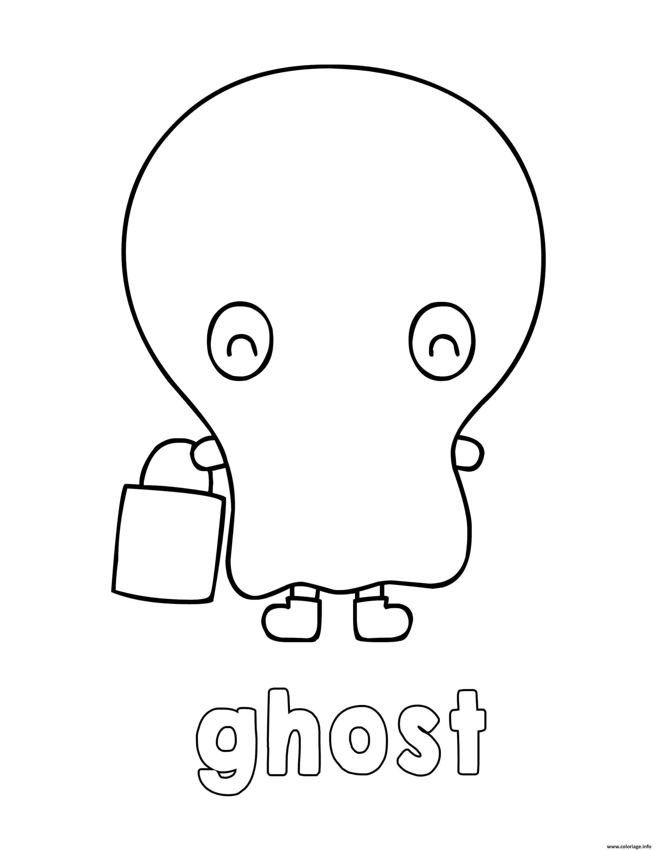 Dessin adorable fantome Coloriage Gratuit à Imprimer