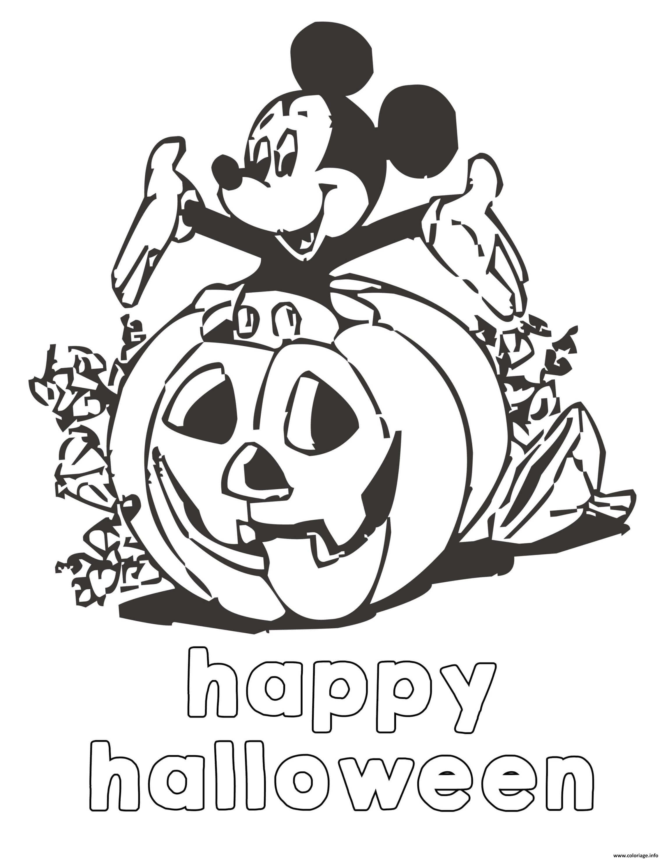 Dessin le monde de disney happy halloween Coloriage Gratuit à Imprimer