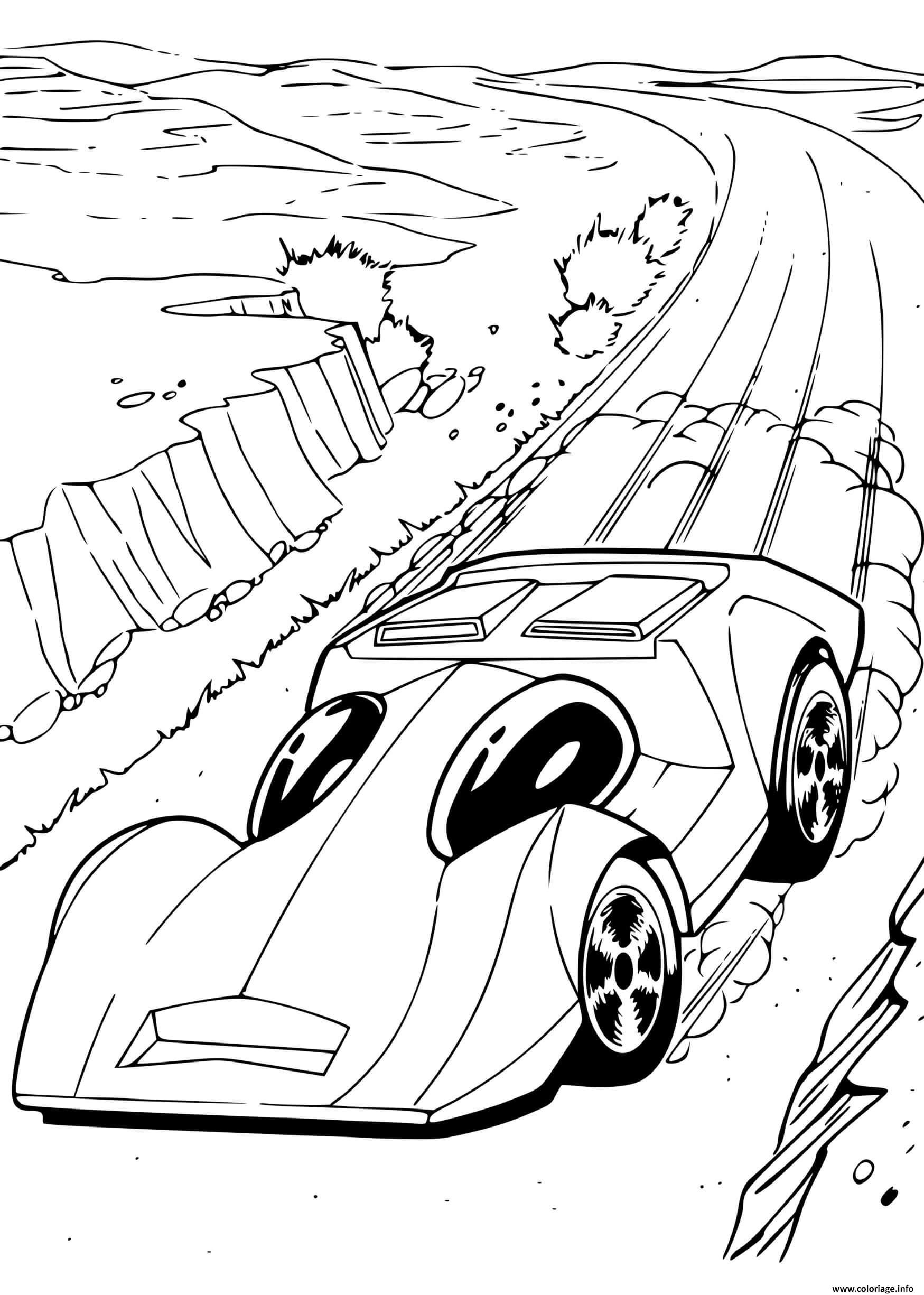 Dessin Hot Wheels Automobile voitures Coloriage Gratuit à Imprimer