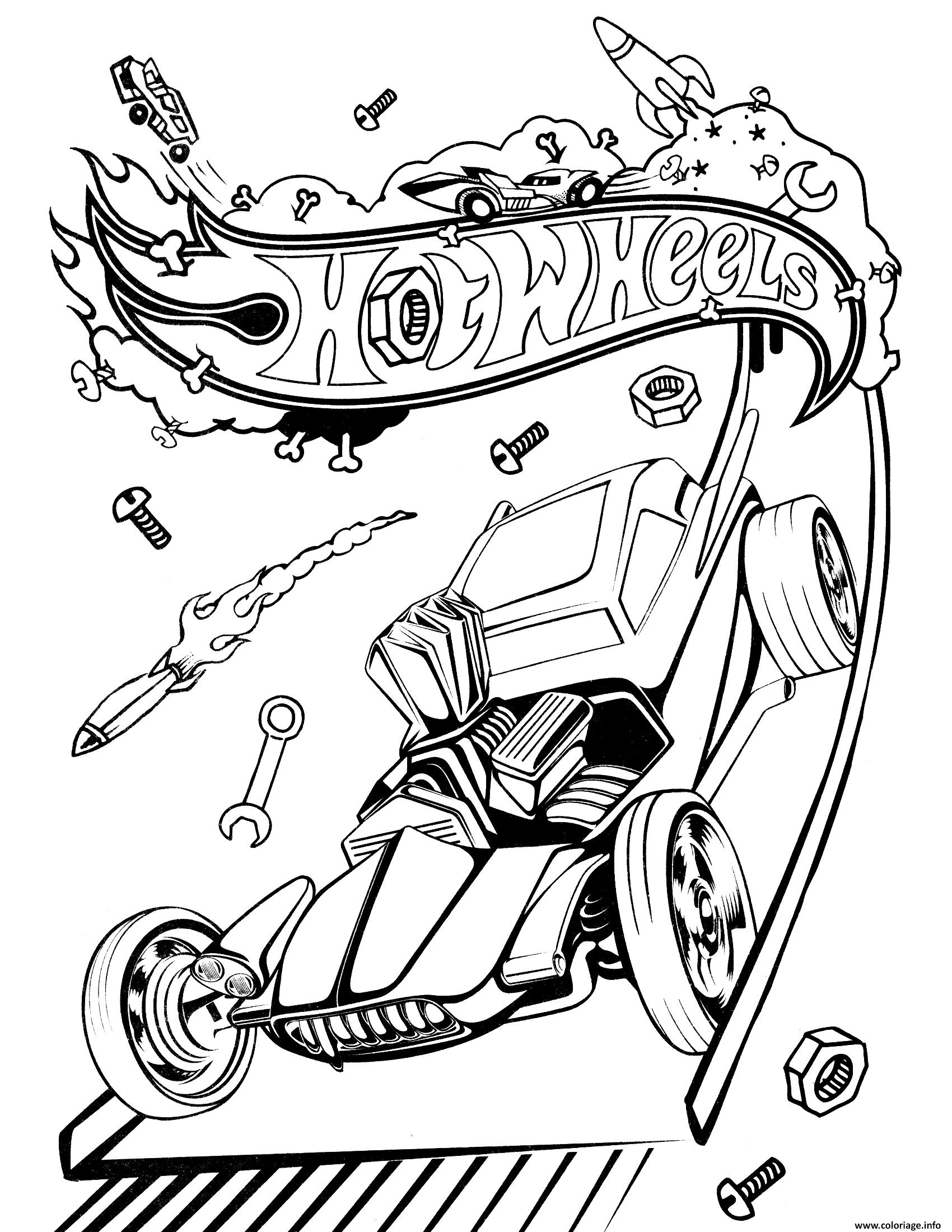 Dessin hot wheelss Coloriage Gratuit à Imprimer