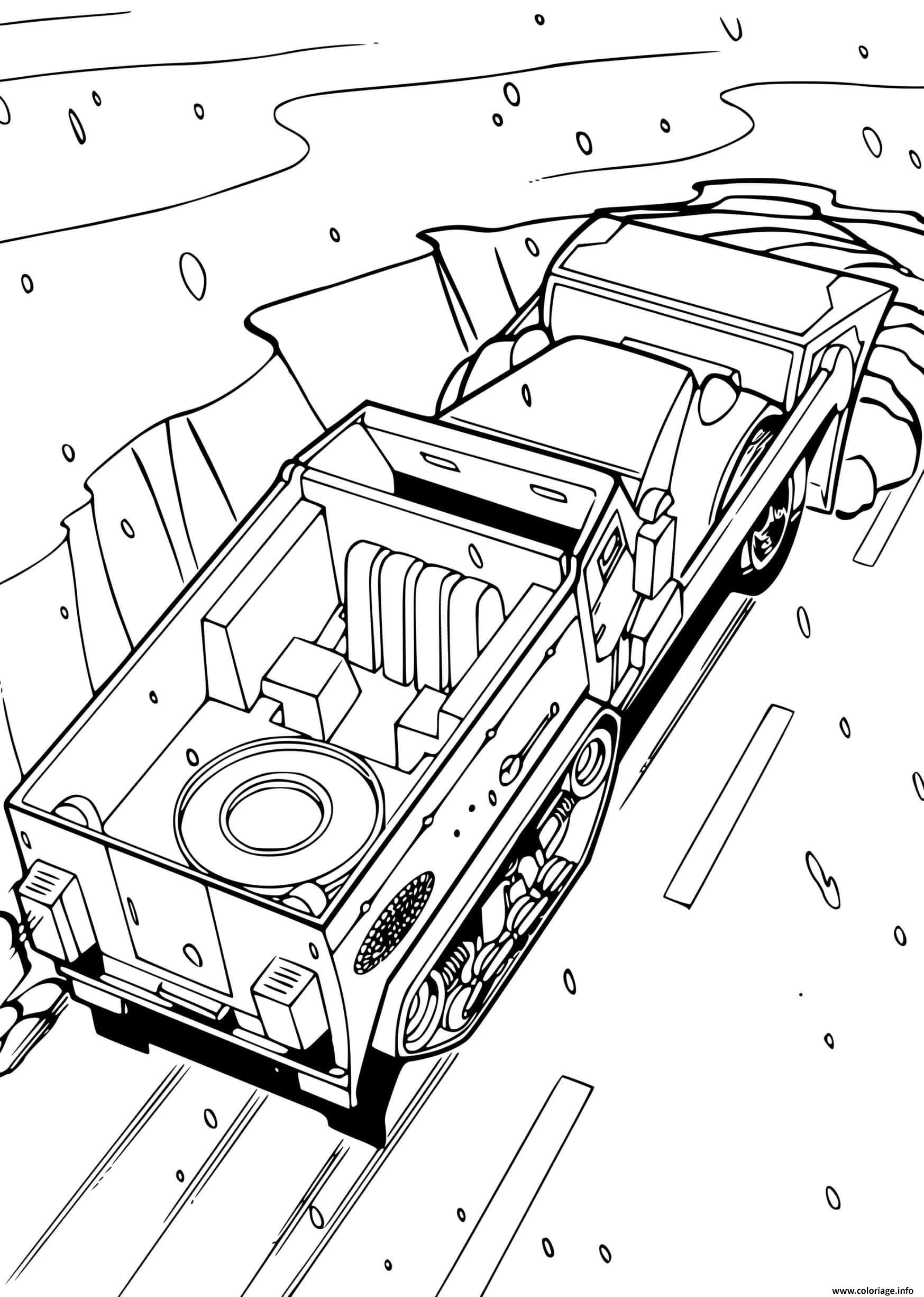 Dessin Hot Wheels Camion Coloriage Gratuit à Imprimer