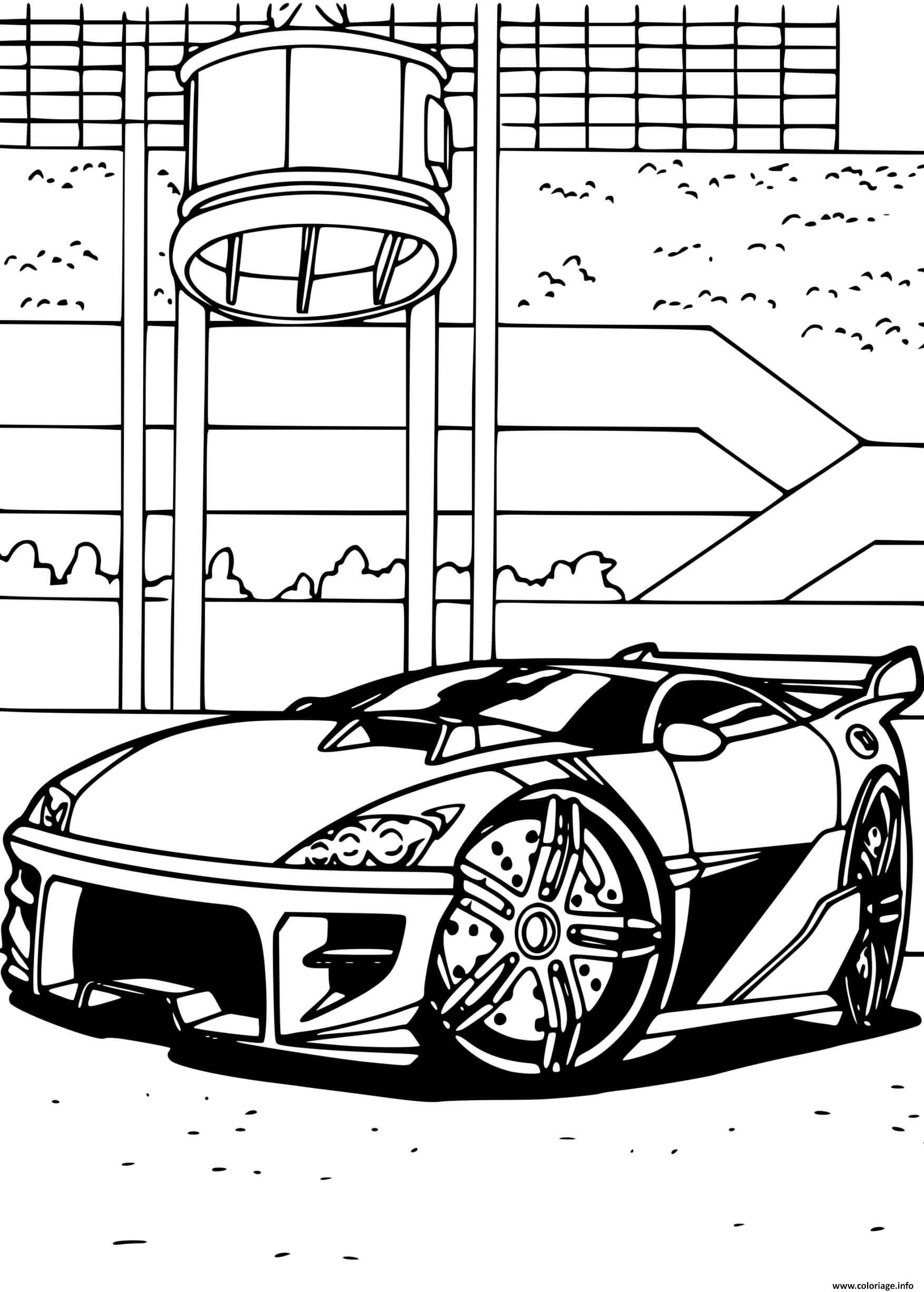 Dessin Hot Wheels Heavy Chevy voiture Coloriage Gratuit à Imprimer