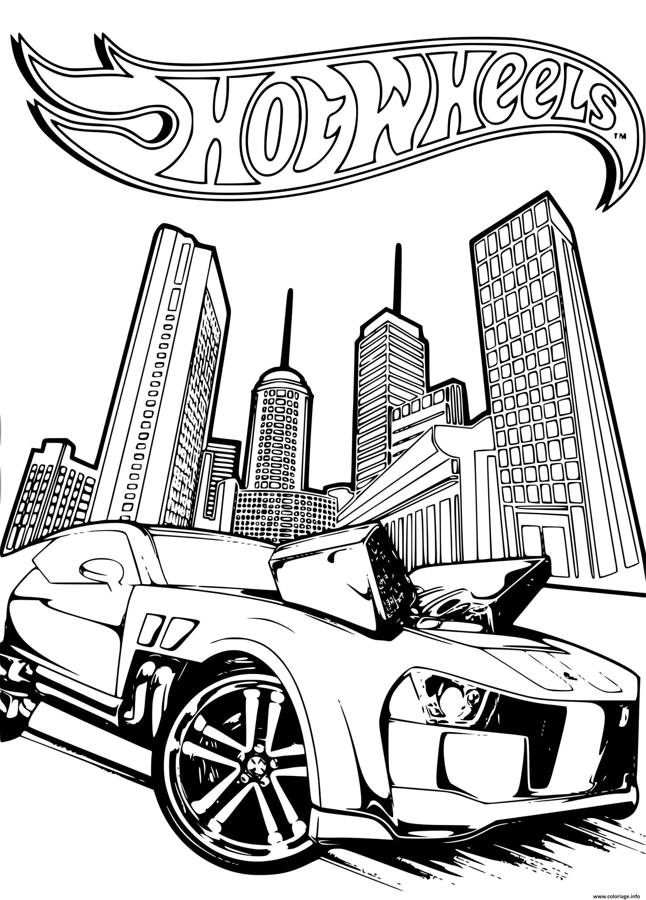 Coloriage hot wheels pontiac g8 2 - JeColorie.com