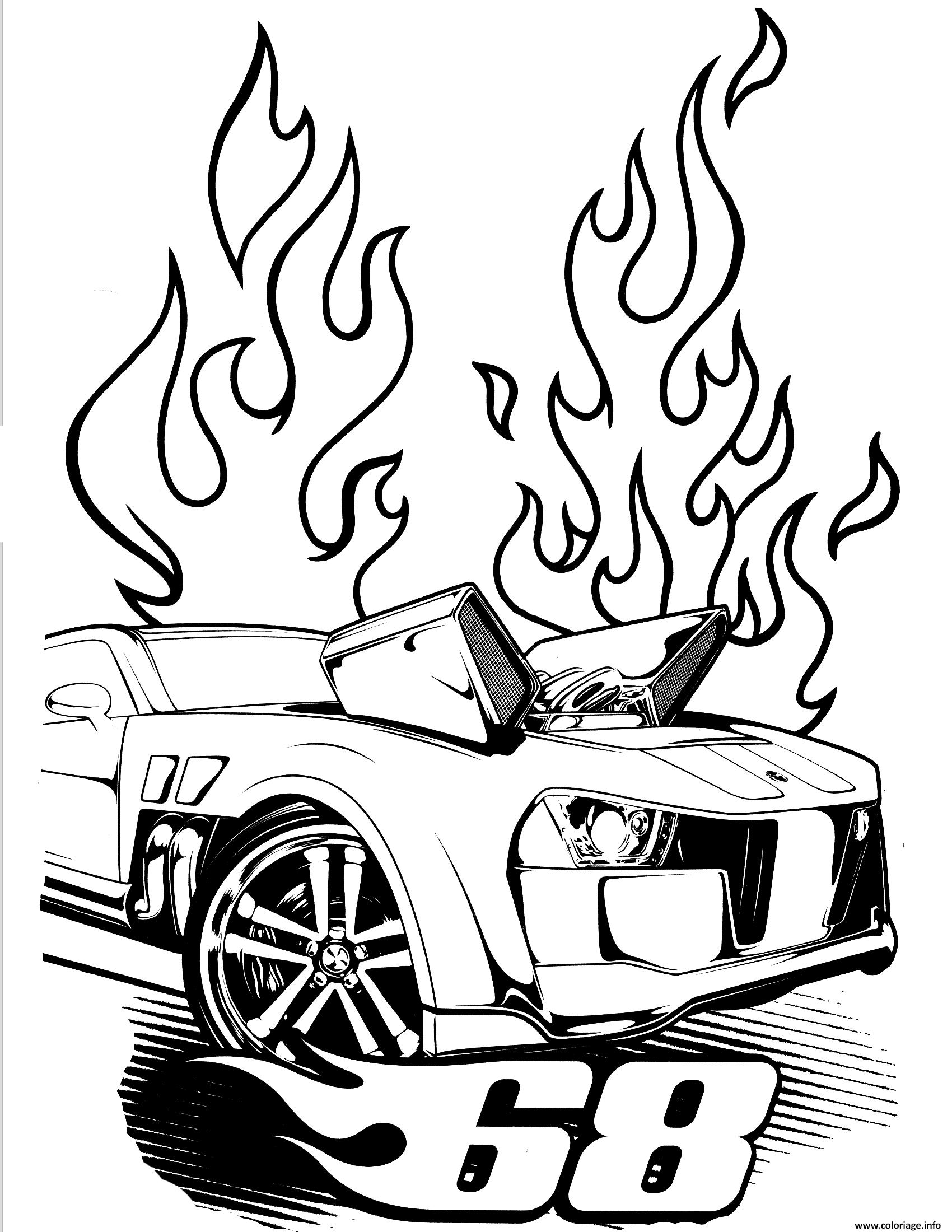 Dessin hot wheels pontiac g8 Coloriage Gratuit à Imprimer