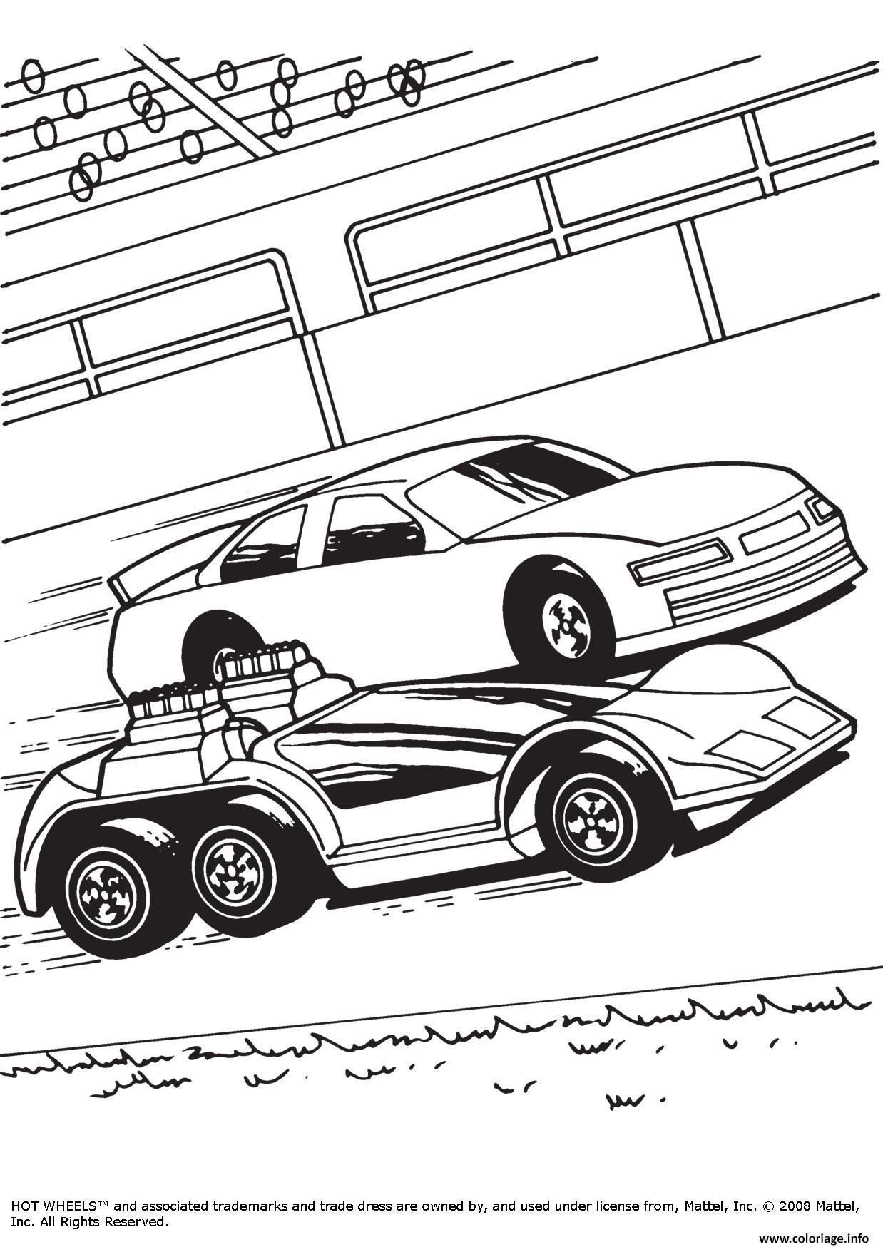 Dessin Hot Wheels voitures Coloriage Gratuit à Imprimer