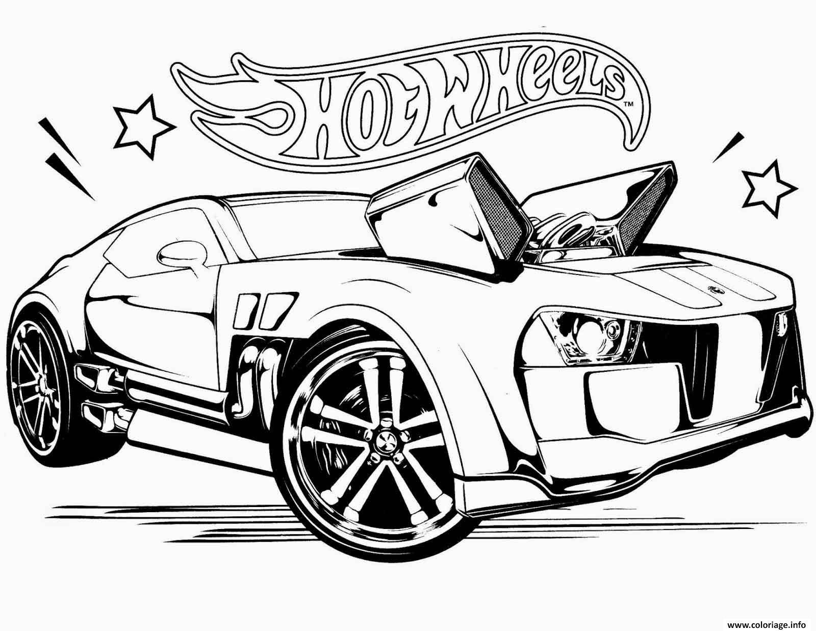 Dessin hot wheels 68 voiture rapide Coloriage Gratuit à Imprimer