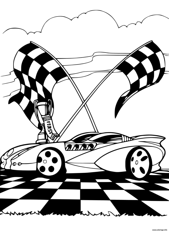 Dessin Racing Track voiture Coloriage Gratuit à Imprimer