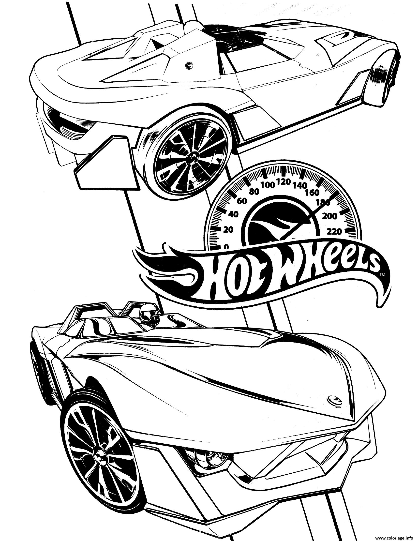 Dessin hot wheels 3 Coloriage Gratuit à Imprimer