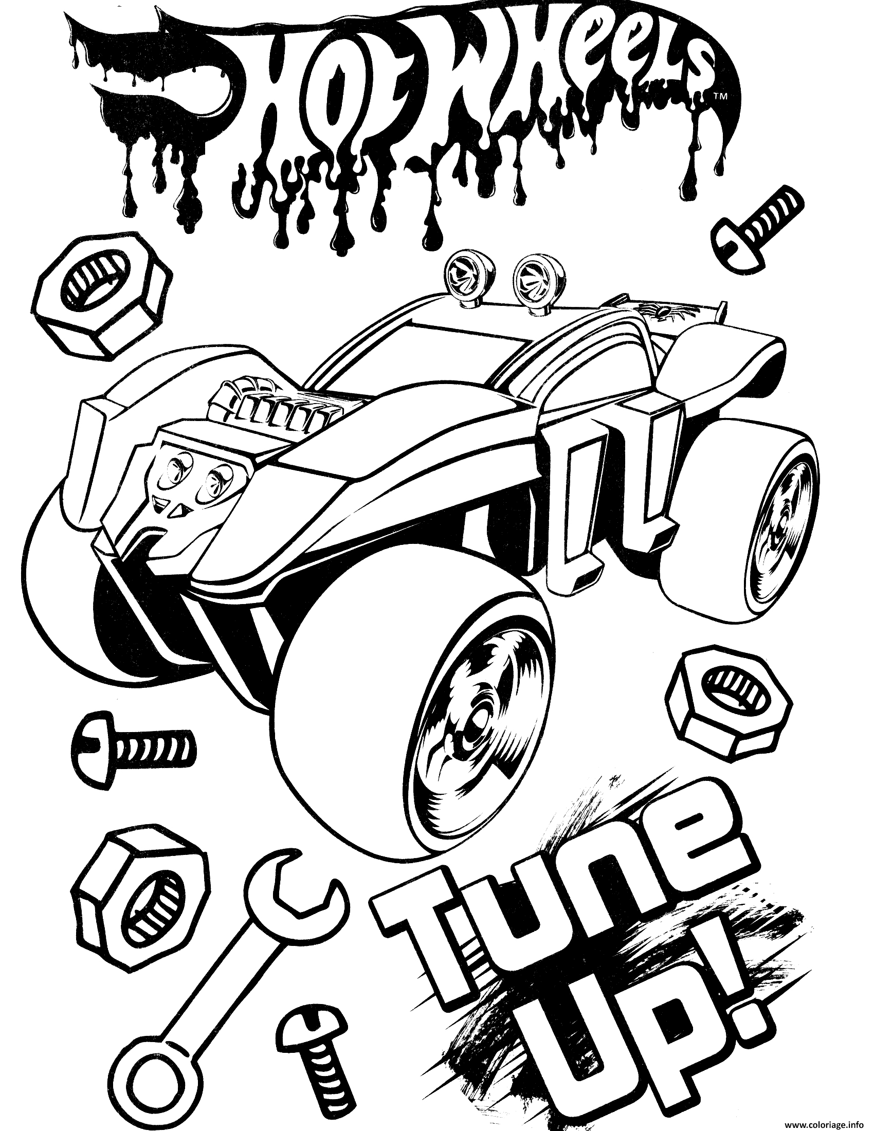 Coloriage Hot Wheels Tune Up Dessin Hot Wheels à imprimer