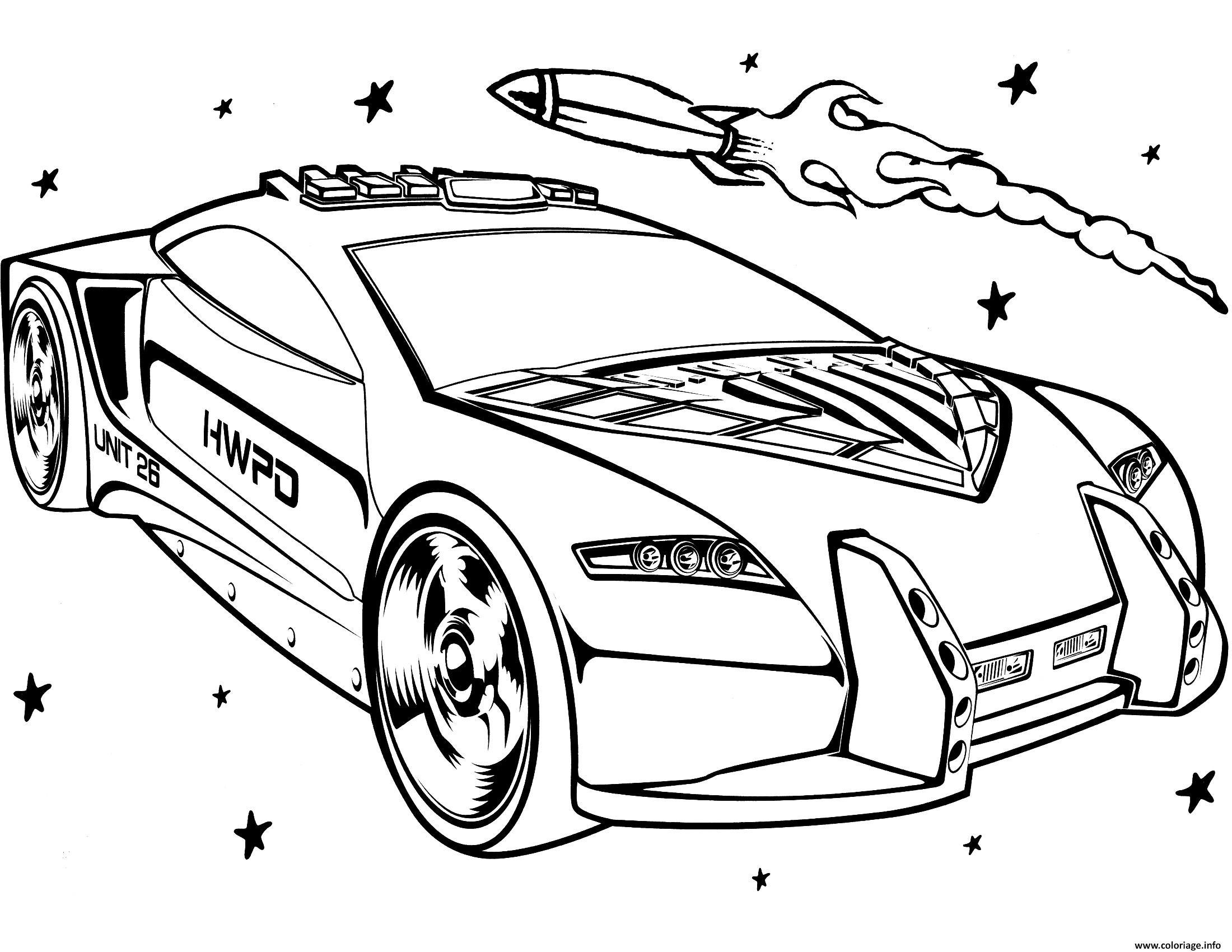 Dessin Hot Wheels for Girls Coloriage Gratuit à Imprimer