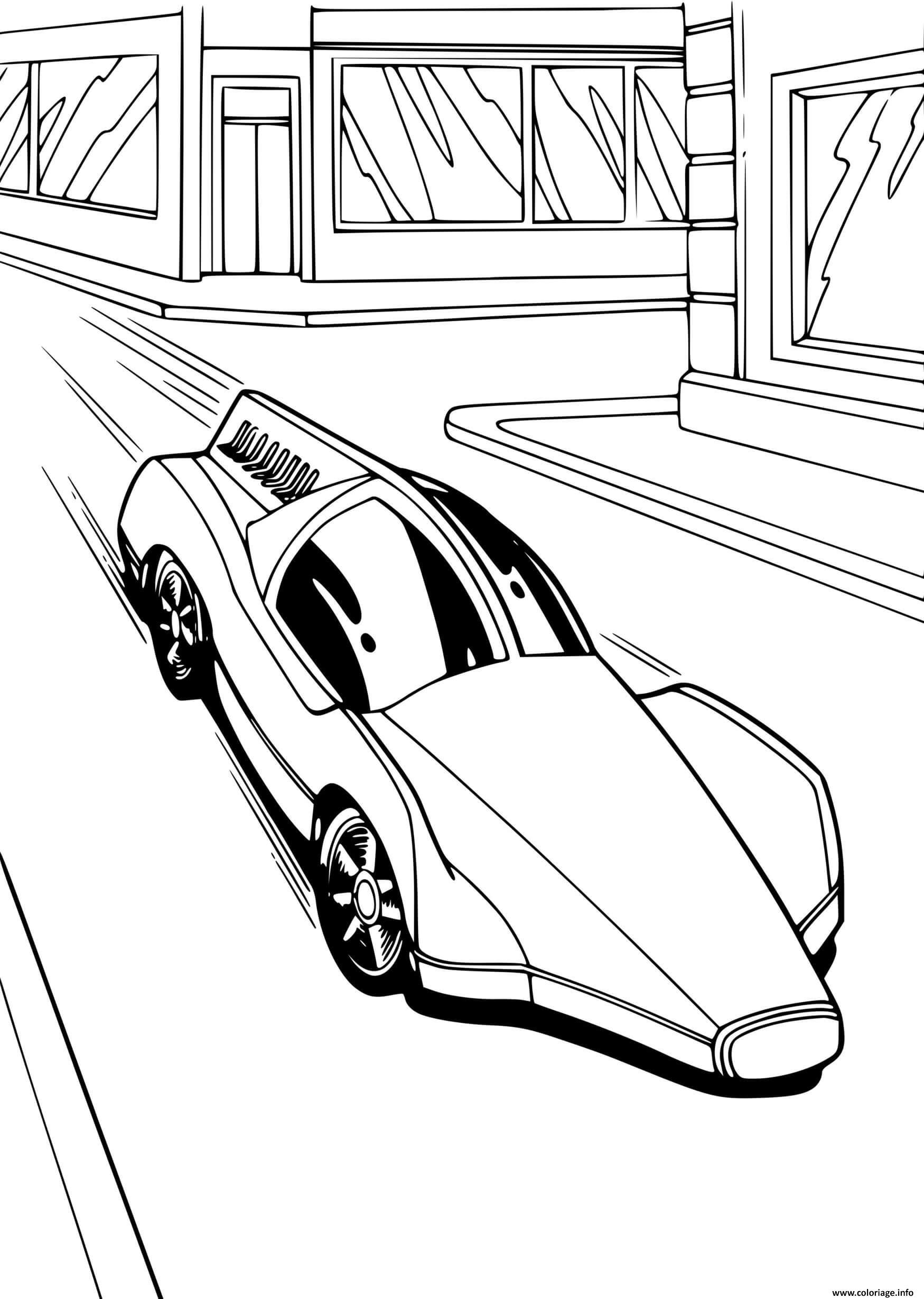Dessin Hot Wheels rapide voiture Coloriage Gratuit à Imprimer