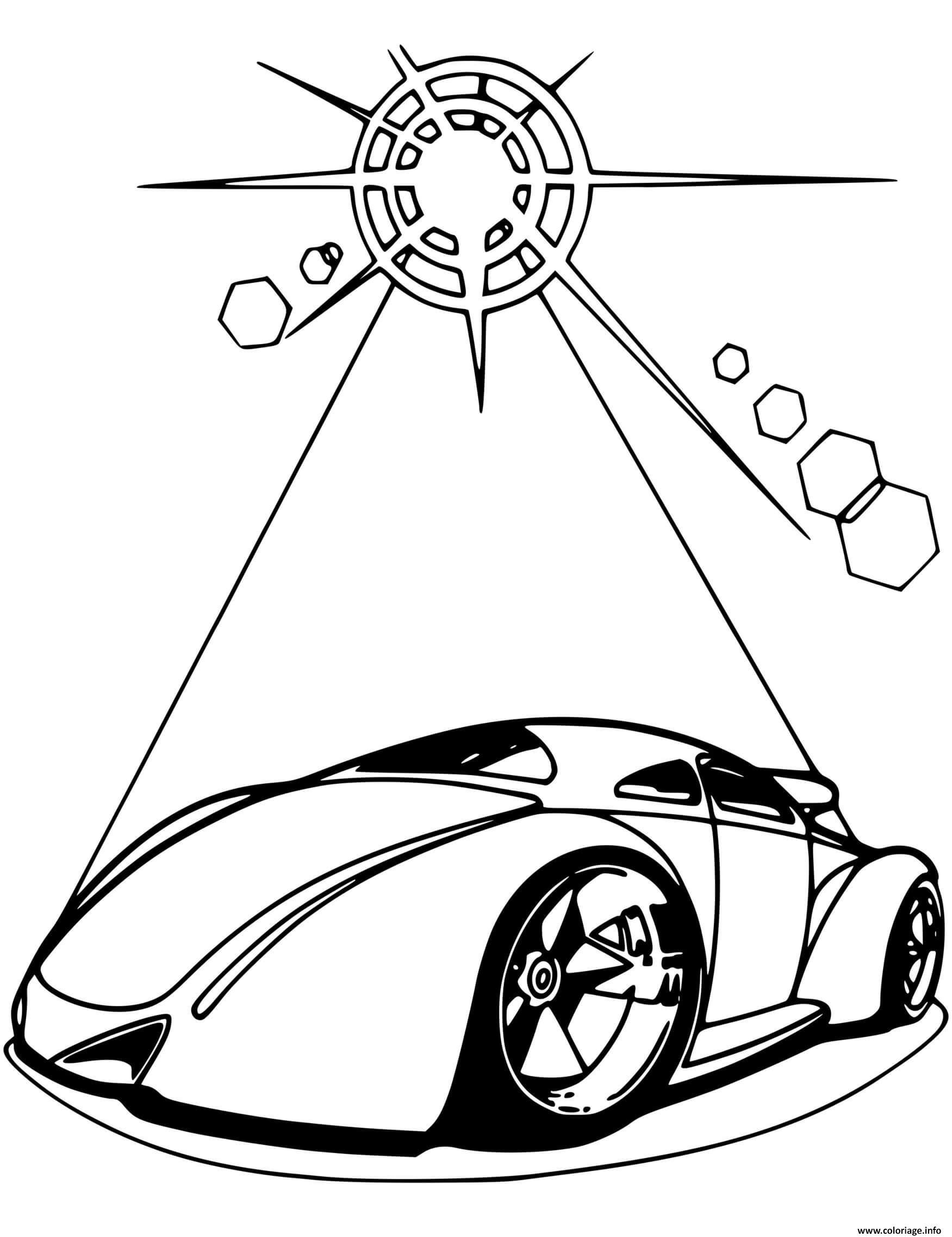 Dessin Hot Wheels Futuristic voiture Coloriage Gratuit à Imprimer