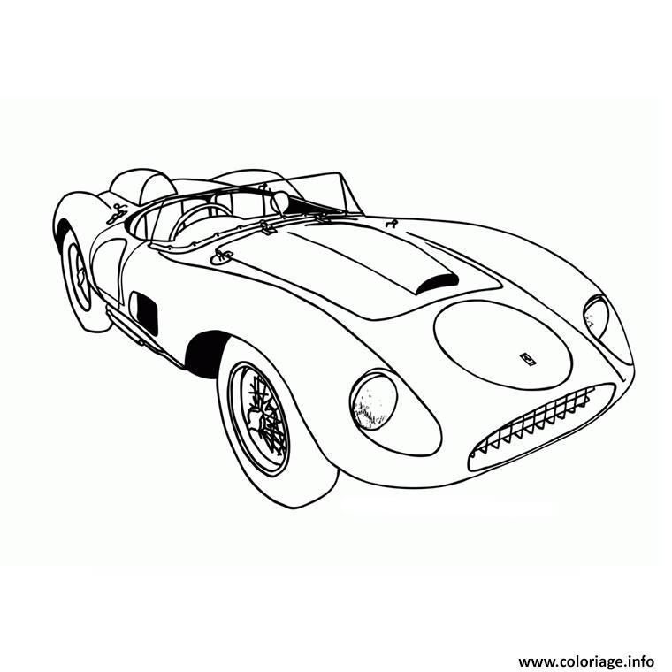 Dessin Voiture Ferrari f70 Coloriage Gratuit à Imprimer