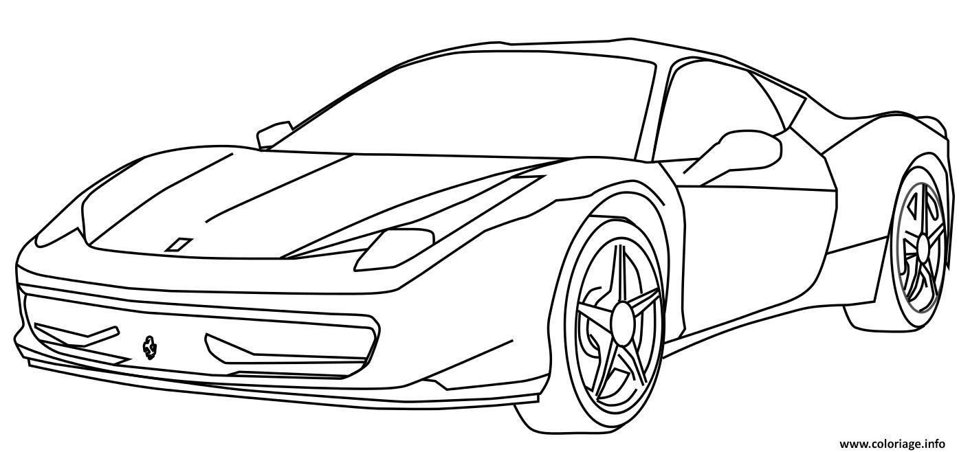 Dessin voiture de sport Voiture Ferrari dessin Coloriage Gratuit à Imprimer
