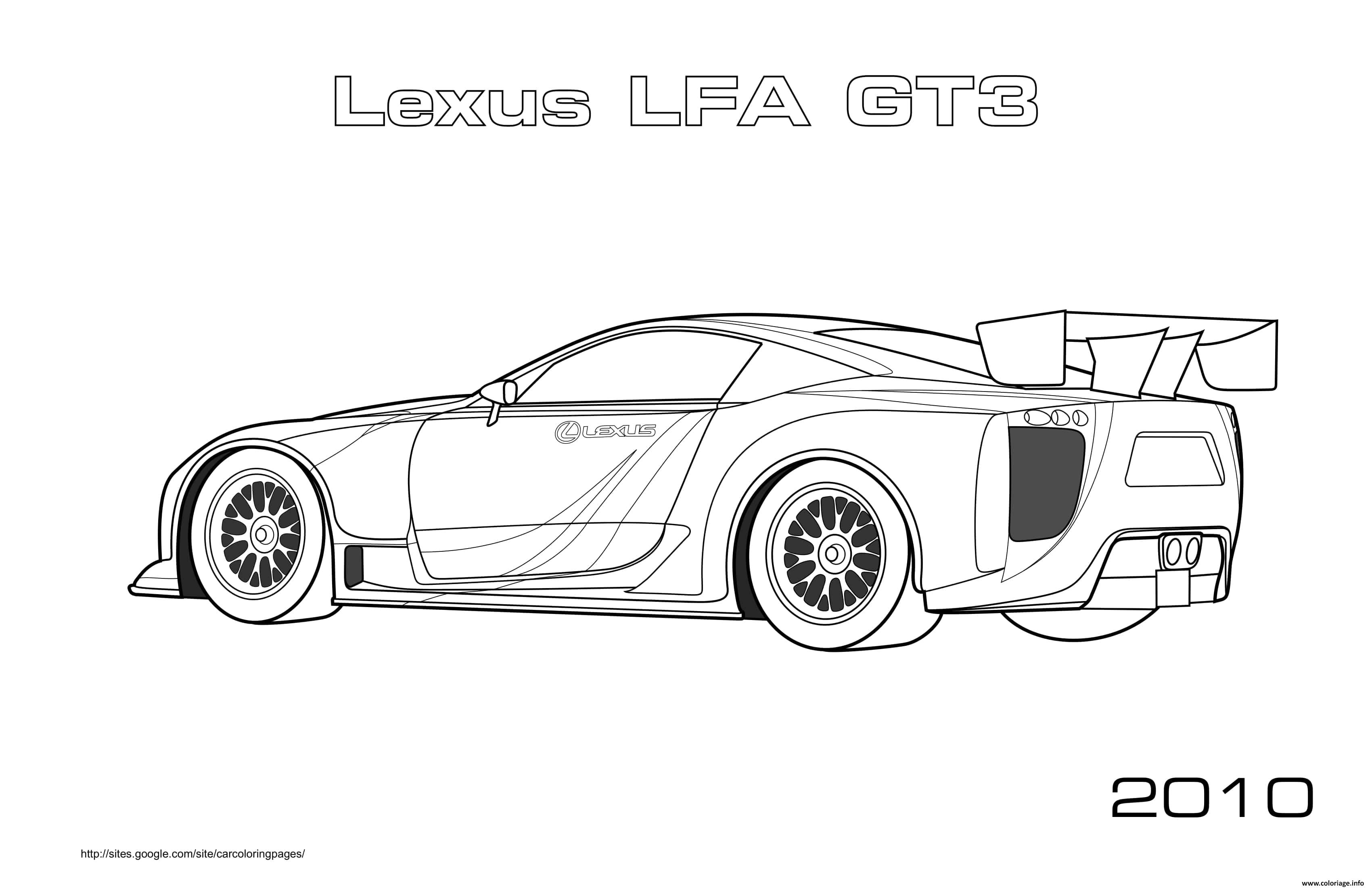 Dessin Lexus Lfa Gt3 2010 Coloriage Gratuit à Imprimer
