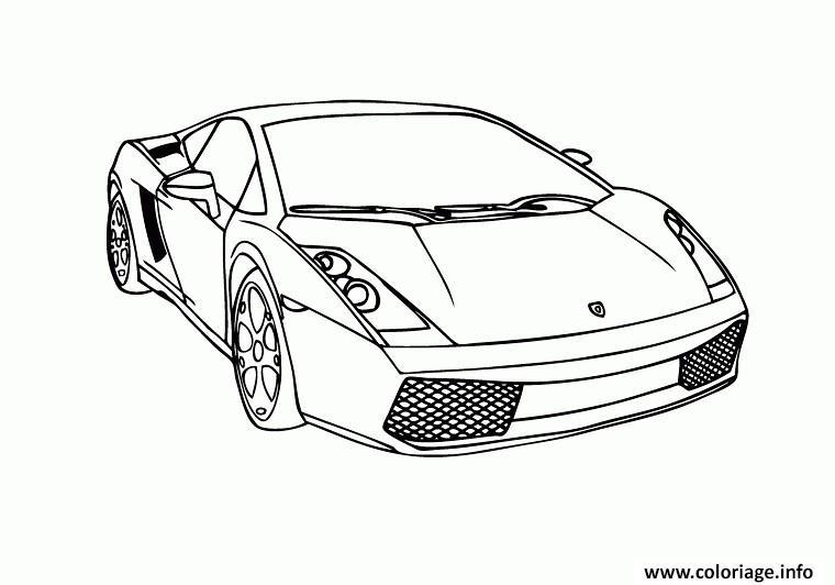 Dessin voitures lamborghini Coloriage Gratuit à Imprimer