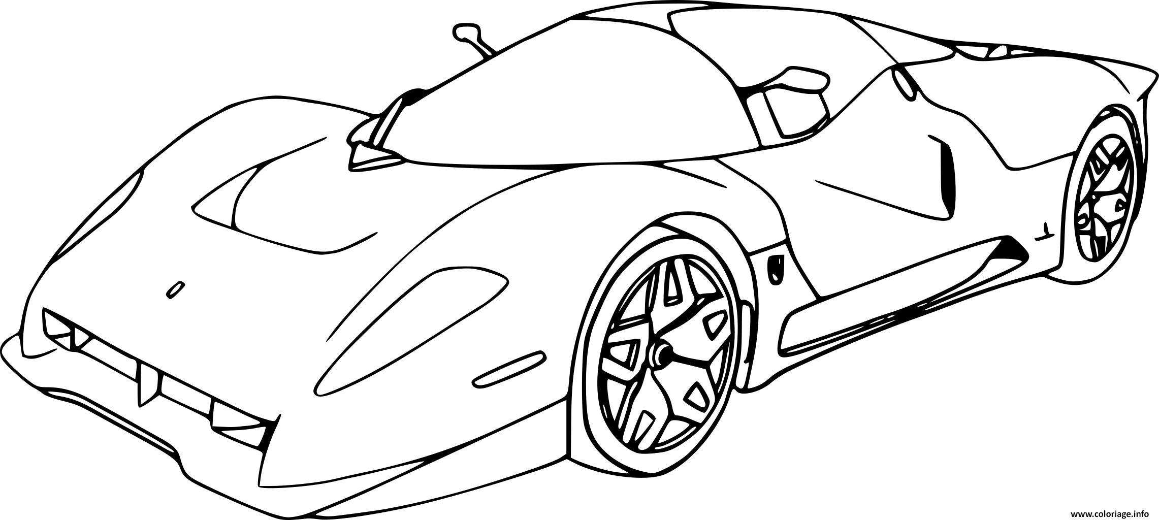 Dessin nouvelle voiture Voiture Ferrari course Coloriage Gratuit à Imprimer