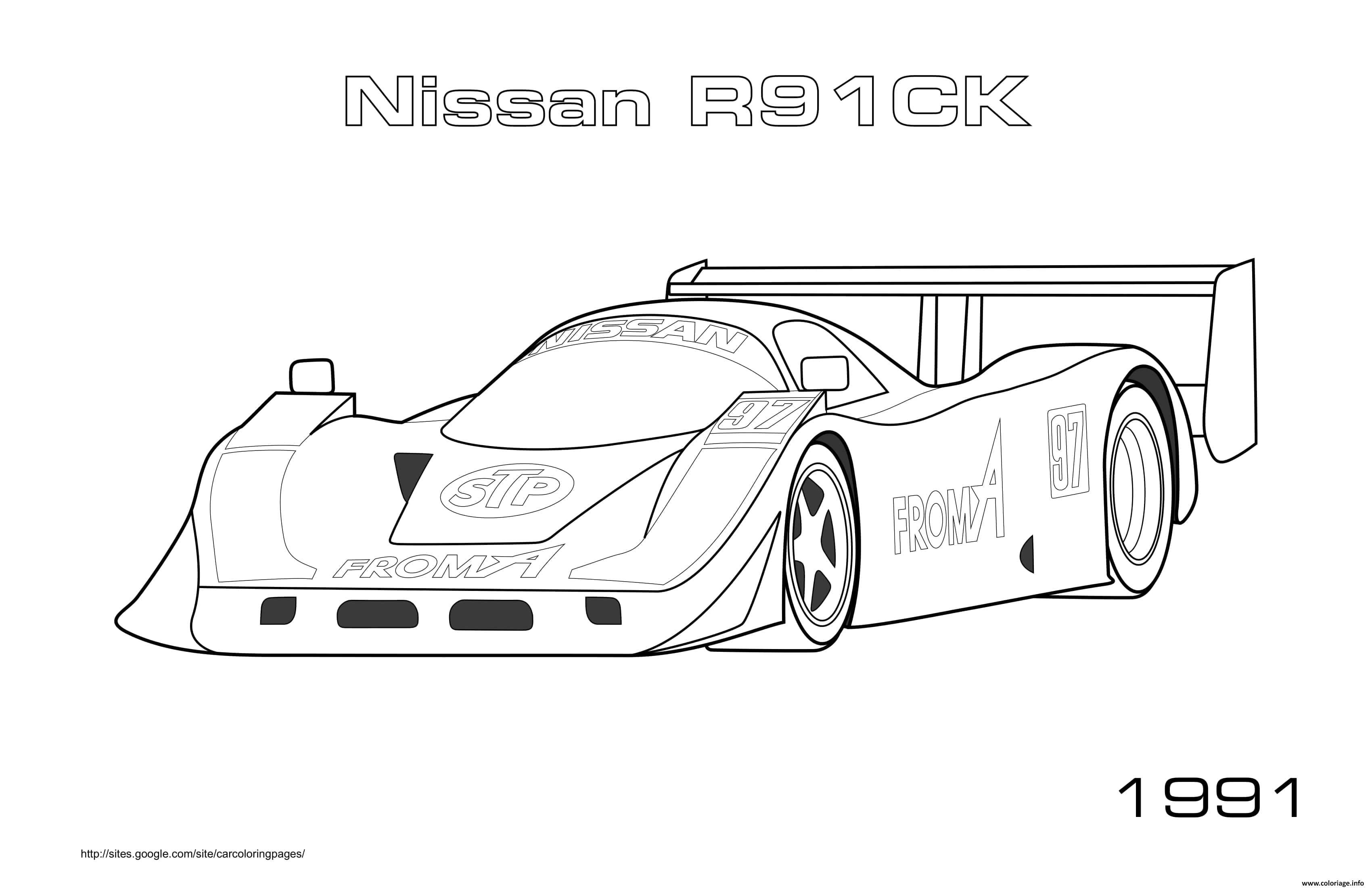 Dessin Nissan R91ck 1991 Coloriage Gratuit à Imprimer