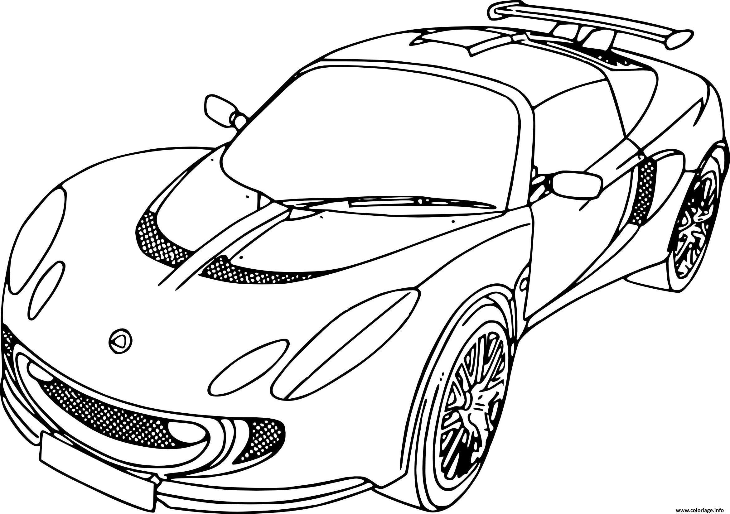 Dessin voiture de sport thebarricadeco Coloriage Gratuit à Imprimer
