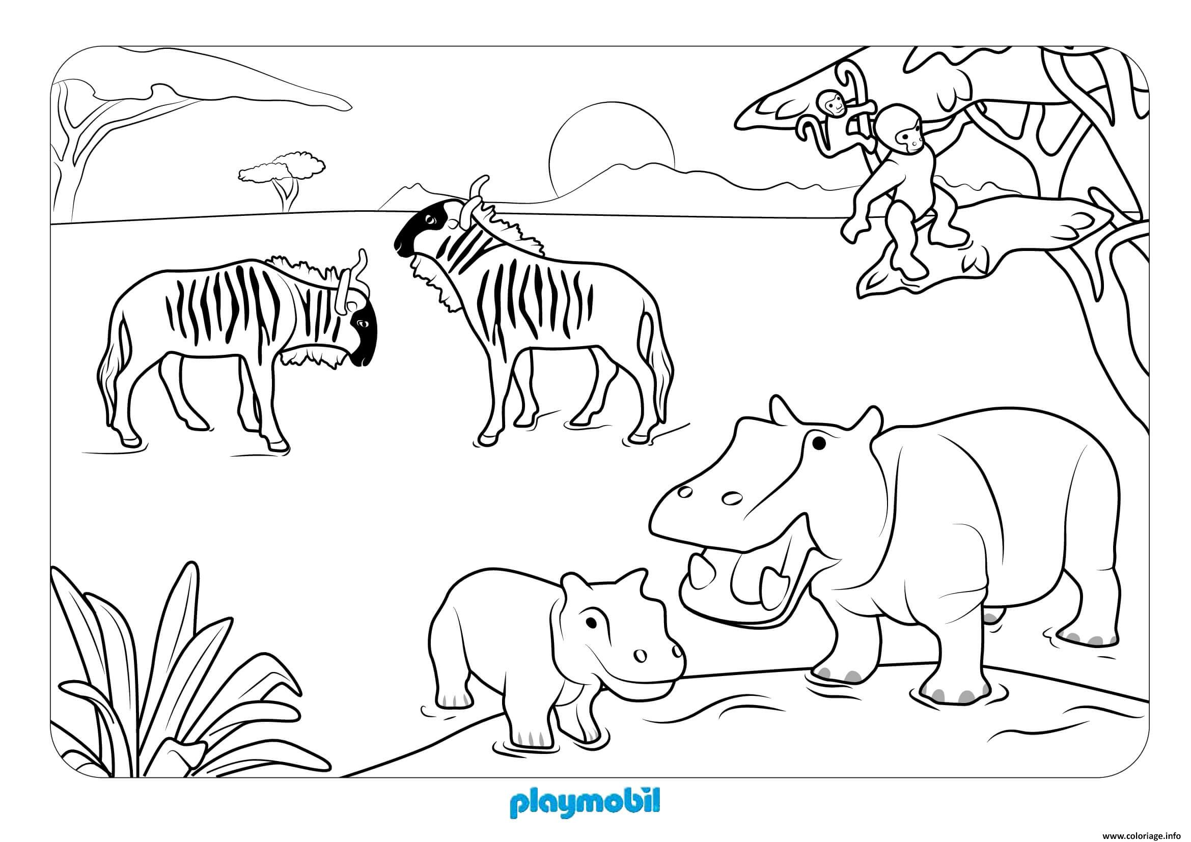 Coloriage Animaux Sauvages 2 Jecolorie Com