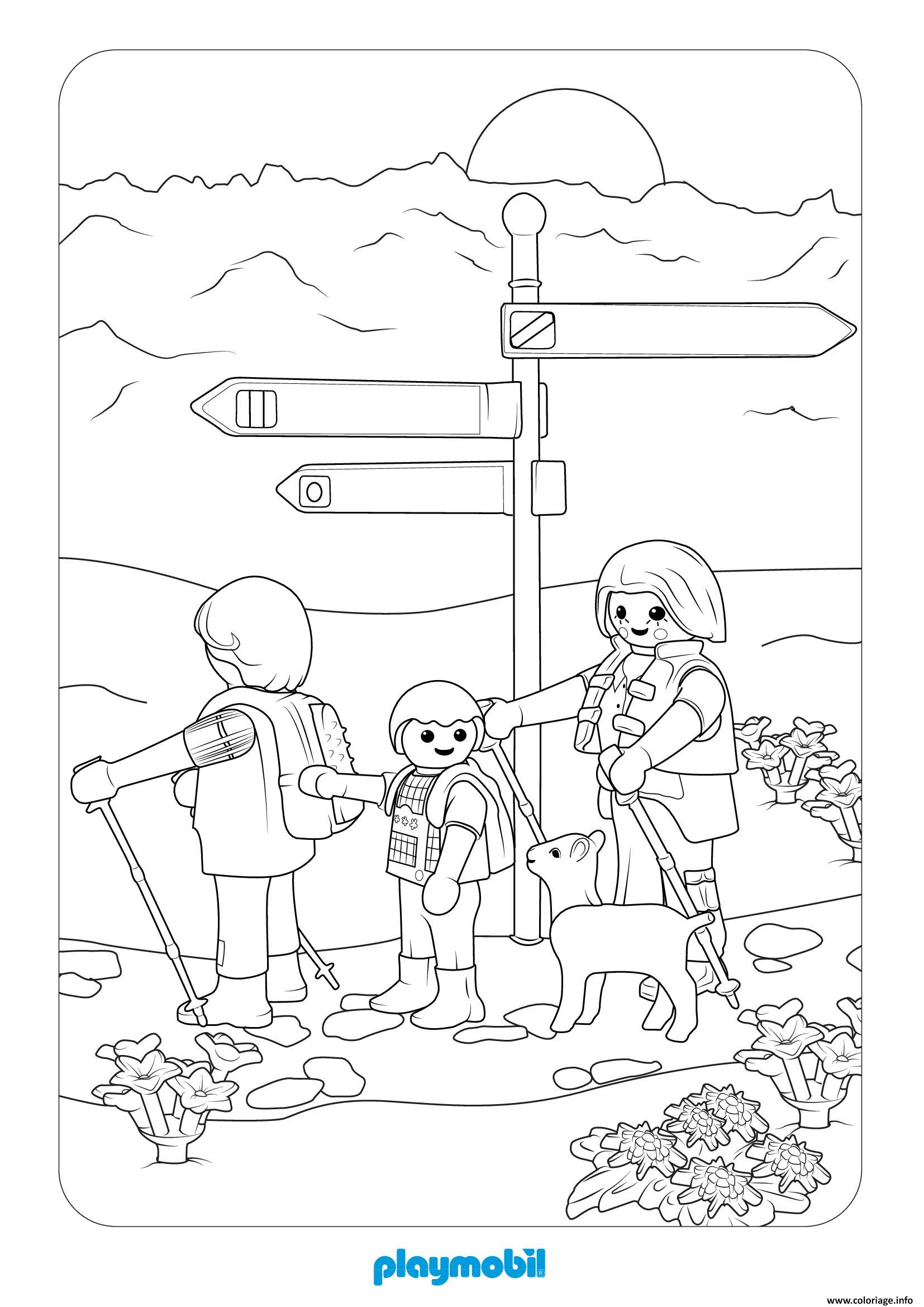 Coloriage Playmobil La Vie A La Montagne 2 Dessin Playmobil A Imprimer