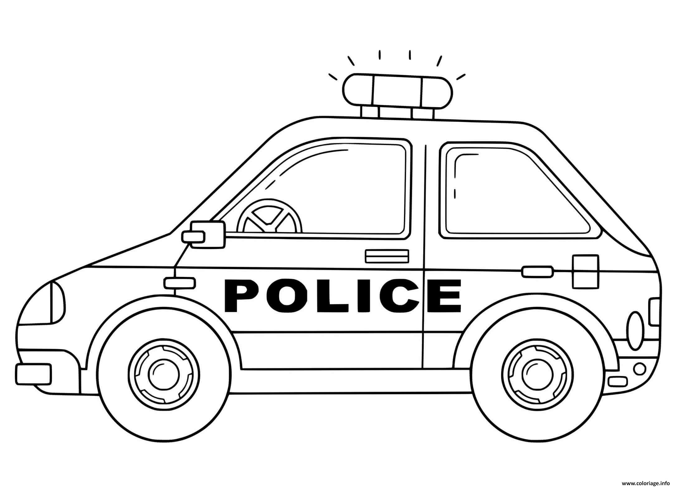 Coloriage Voiture De Police Nationale France Dessin Voiture De Police A Imprimer