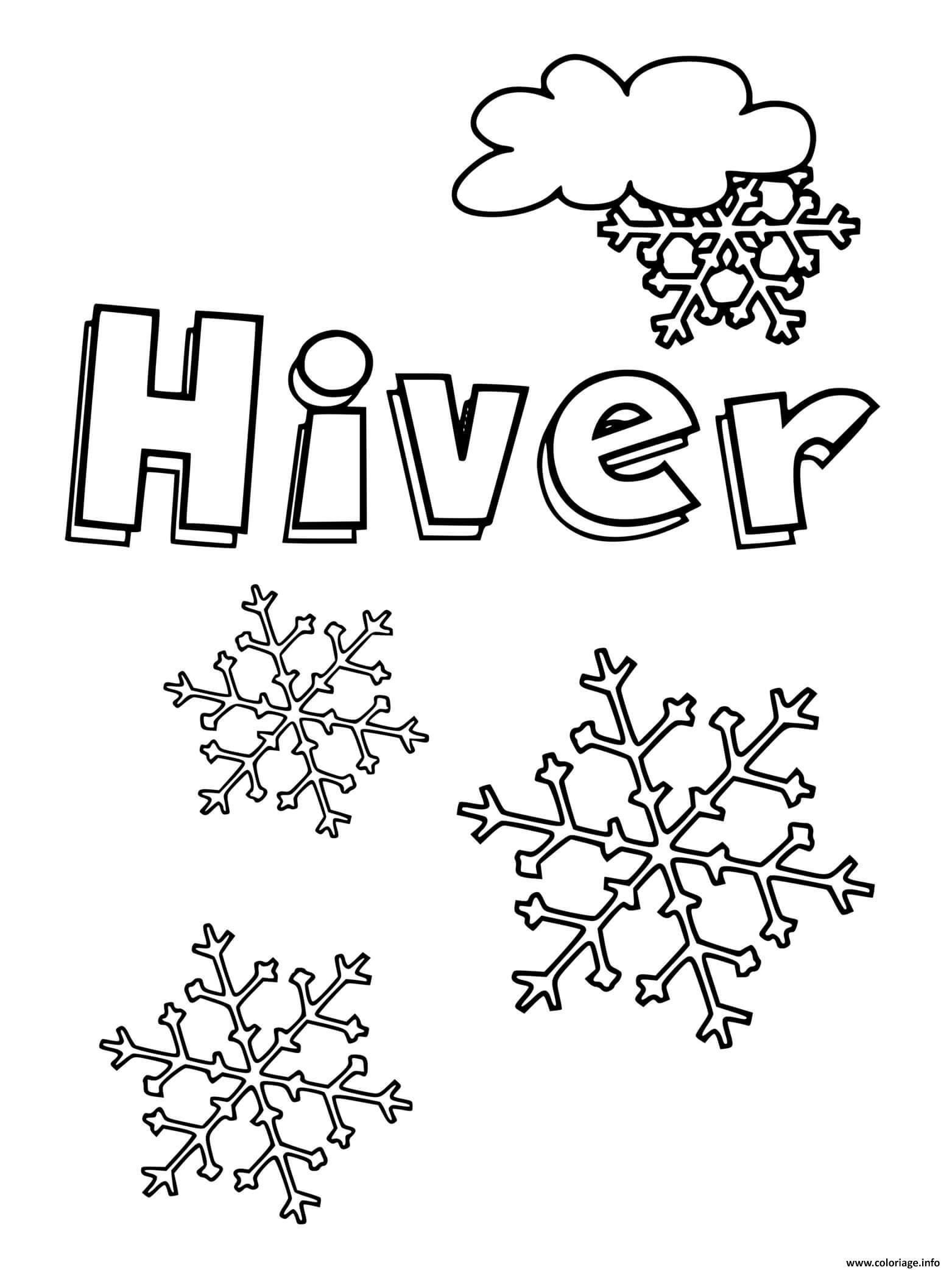 Dessin hiver mois de decembre Coloriage Gratuit à Imprimer