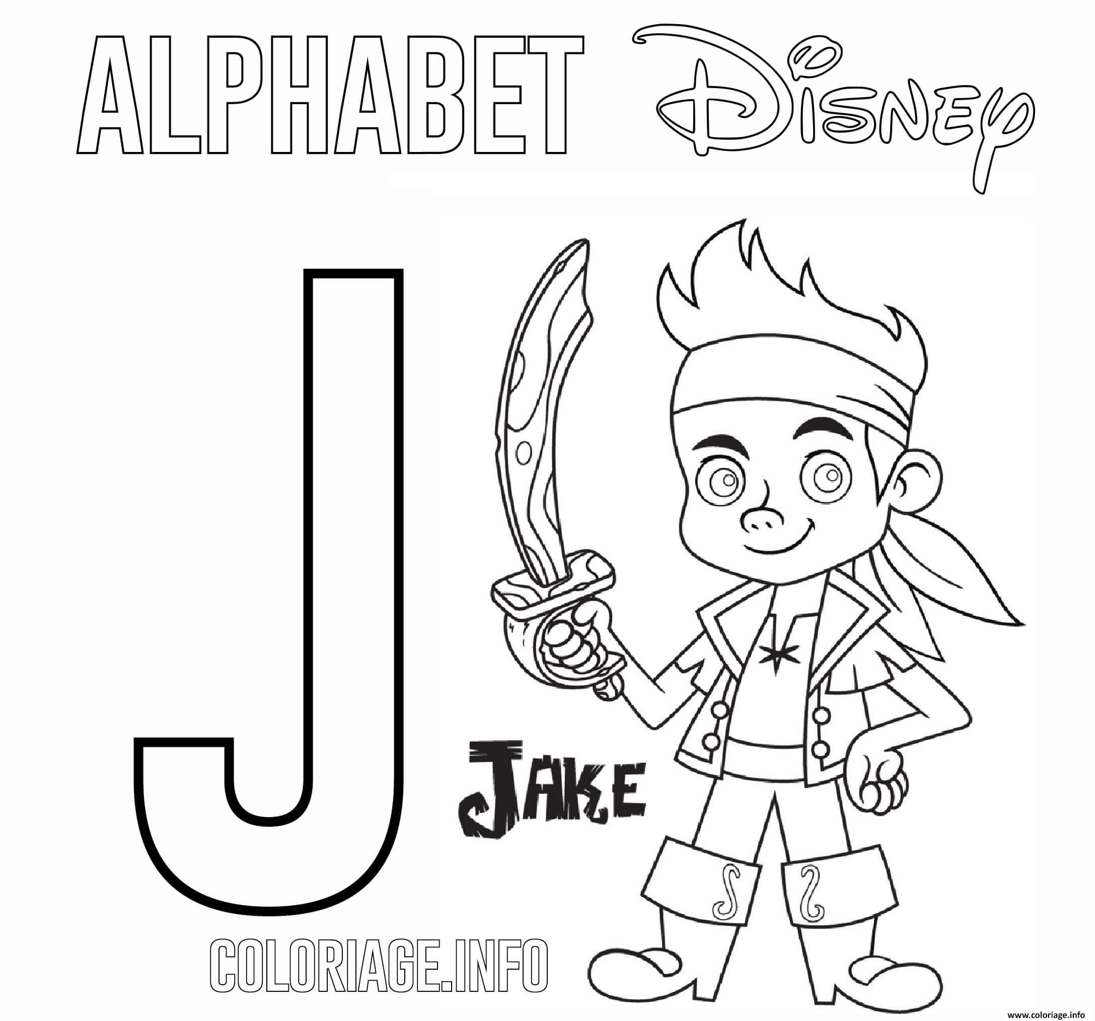 Dessin Lettre J pour Jakes Coloriage Gratuit à Imprimer