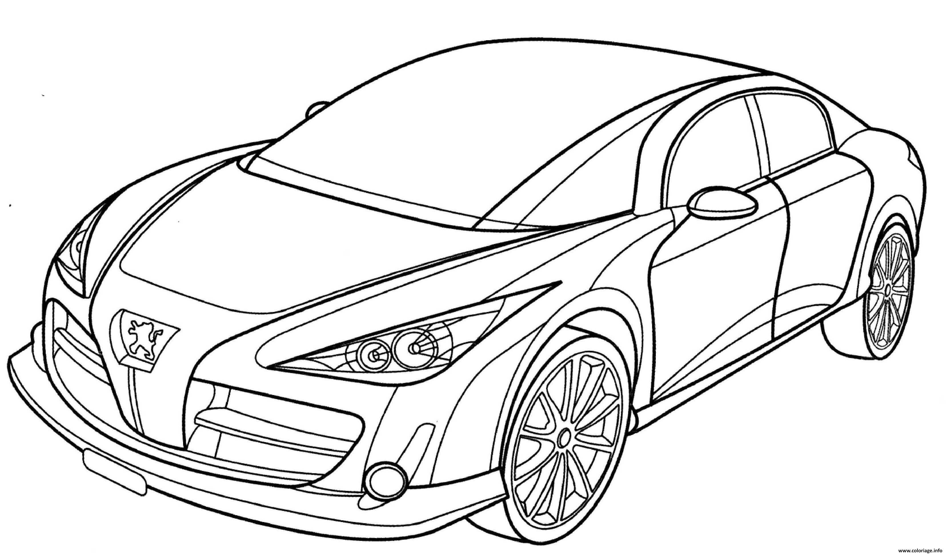 Coloriage Peugeot Rc Dessin Voiture à imprimer