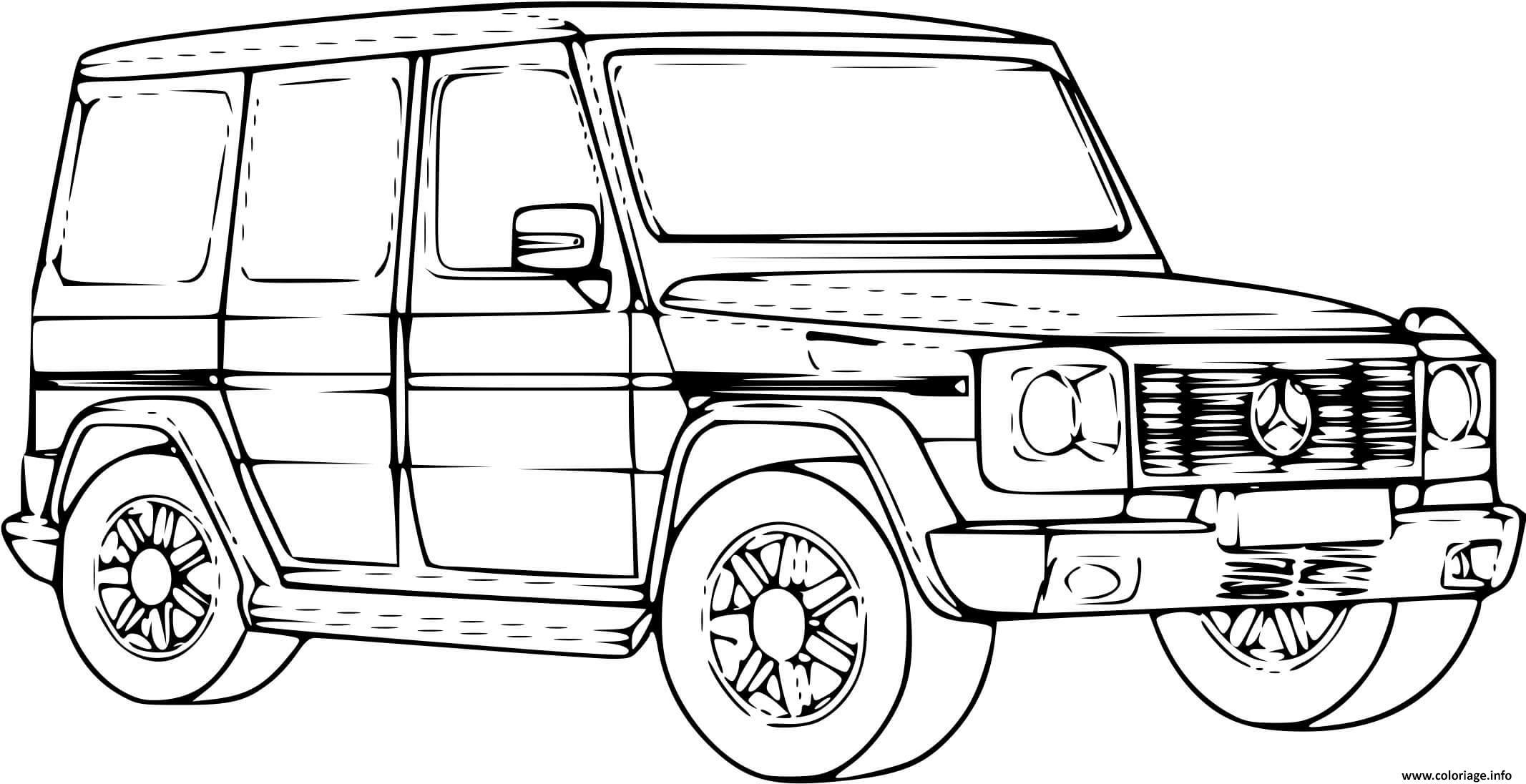 Coloriage Voiture 4x4 Mercedes Dessin 4x4 à imprimer