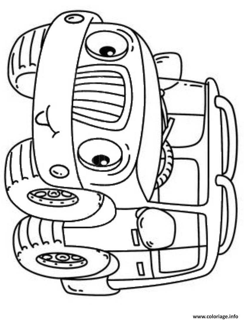 Coloriage Voiture 4x4 Facile Maternelle Dessin 4x4 à imprimer
