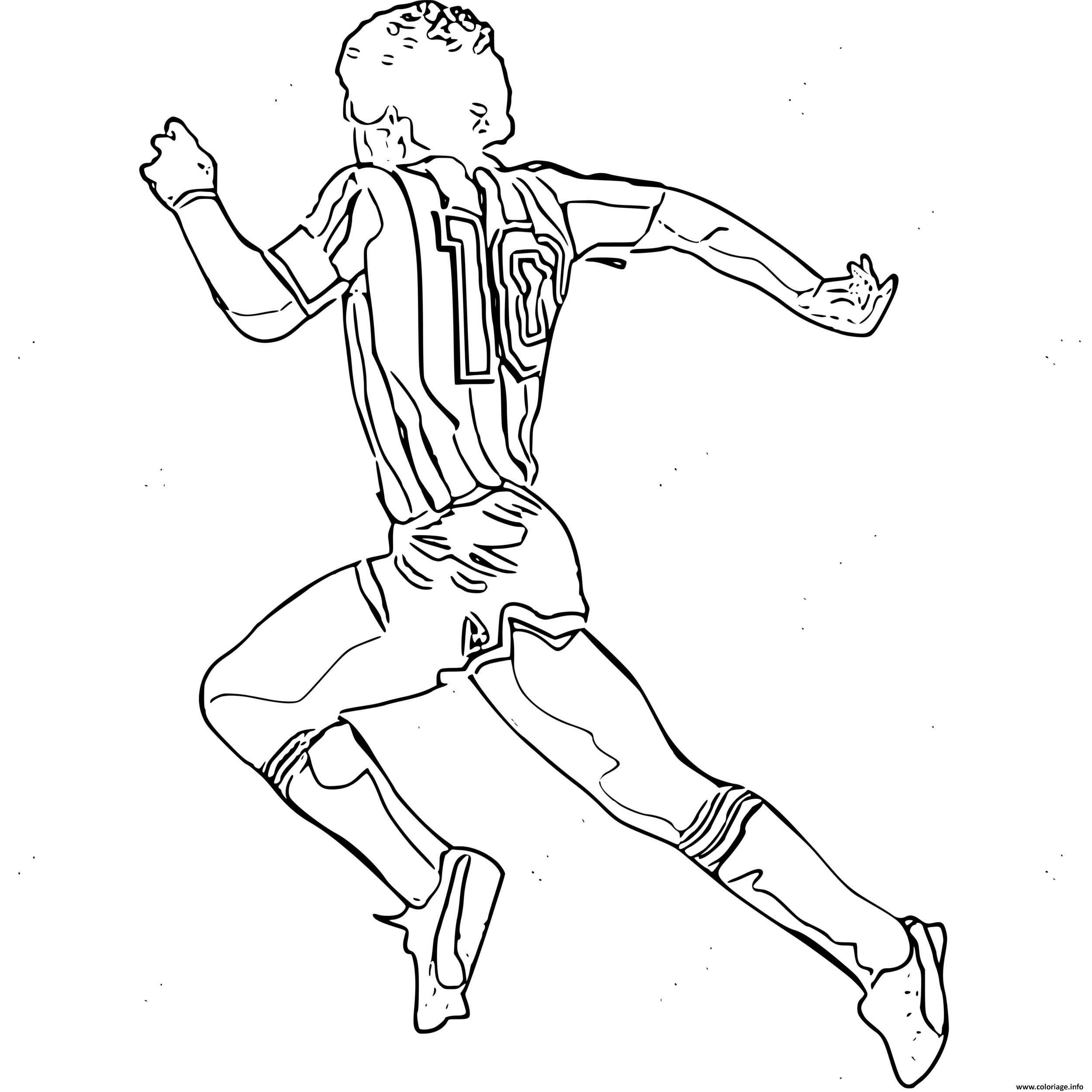 Coloriage Diego Maradona Numero 10 Foot Equipe Nationale ...
