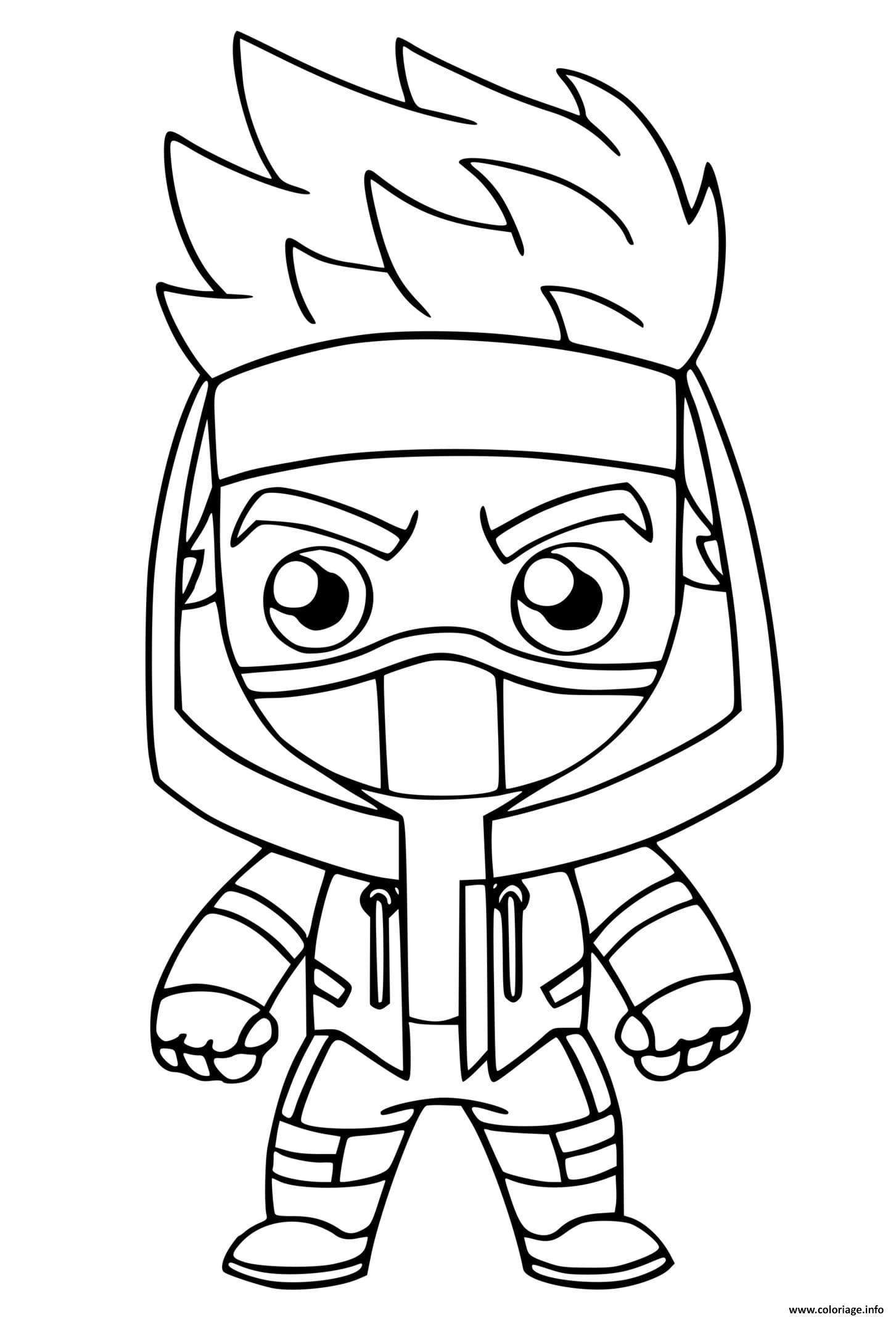 Dessin Ninja Fortnite Coloriage Gratuit à Imprimer